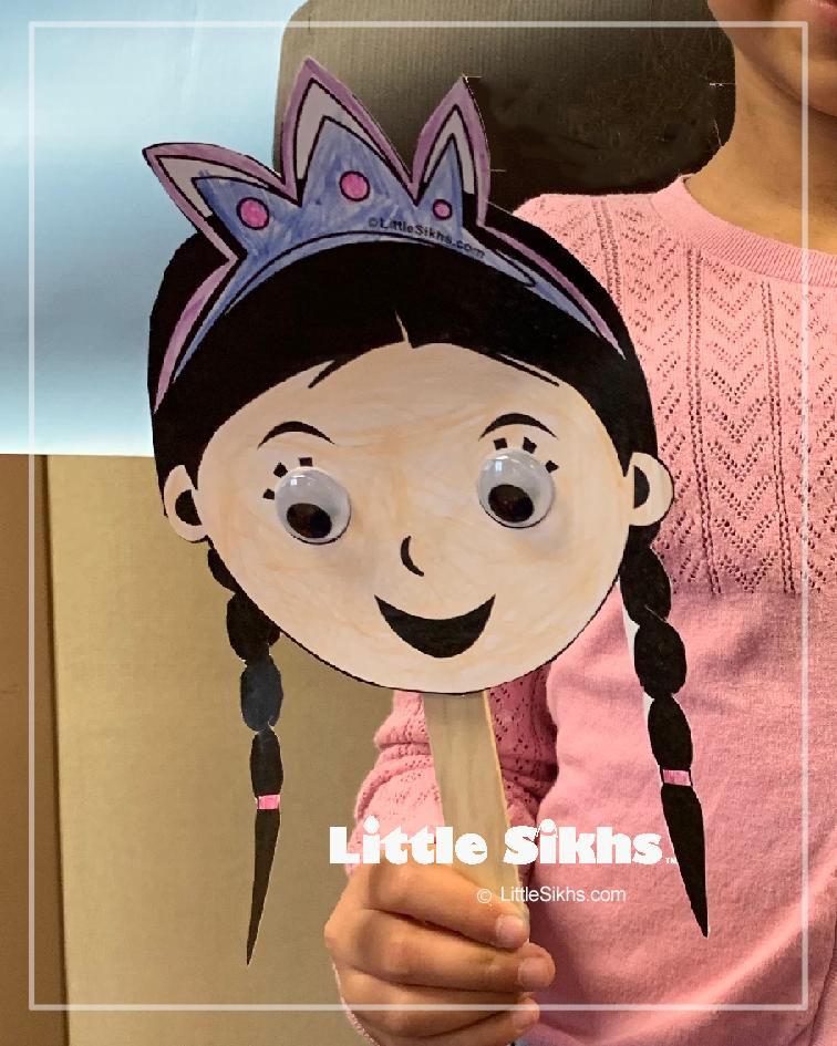 Little Sikhs Puppet Sample (Little Kaur)