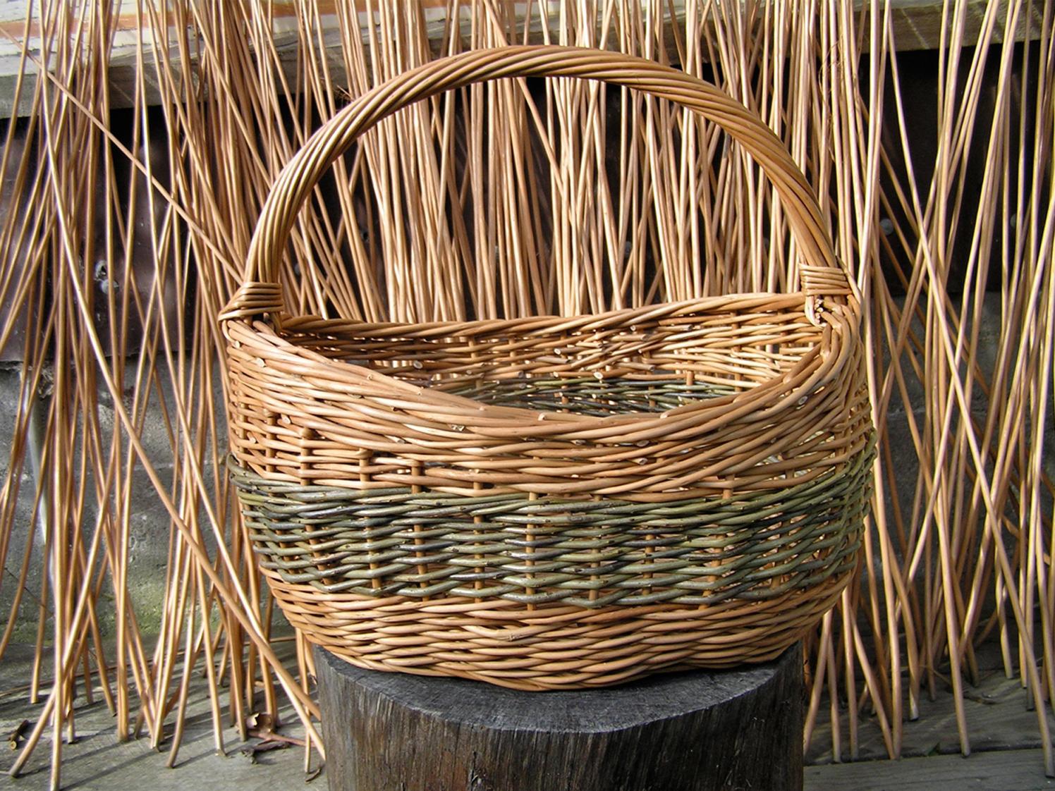 Two Toned asymmetrical basket