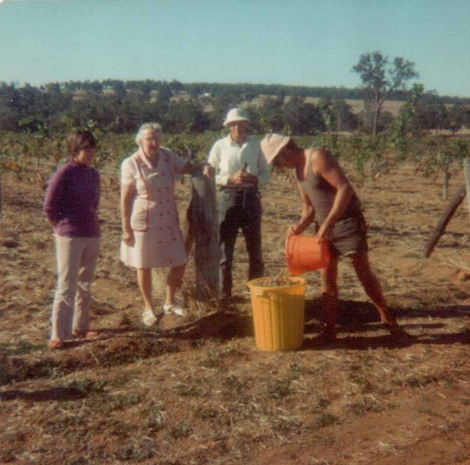 Alkoomi Wines 1st vintage Merv & Judy Lange with Mervs Parents Vic & Netta Lange.jpg