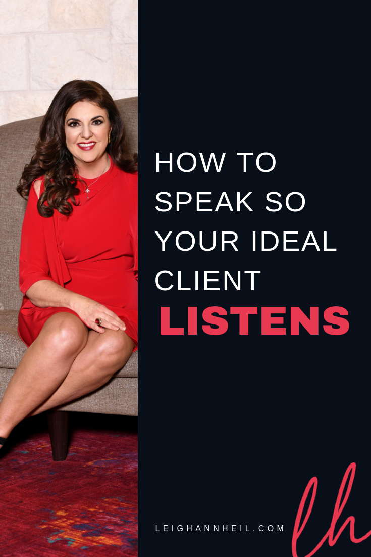 speak to your ideal client