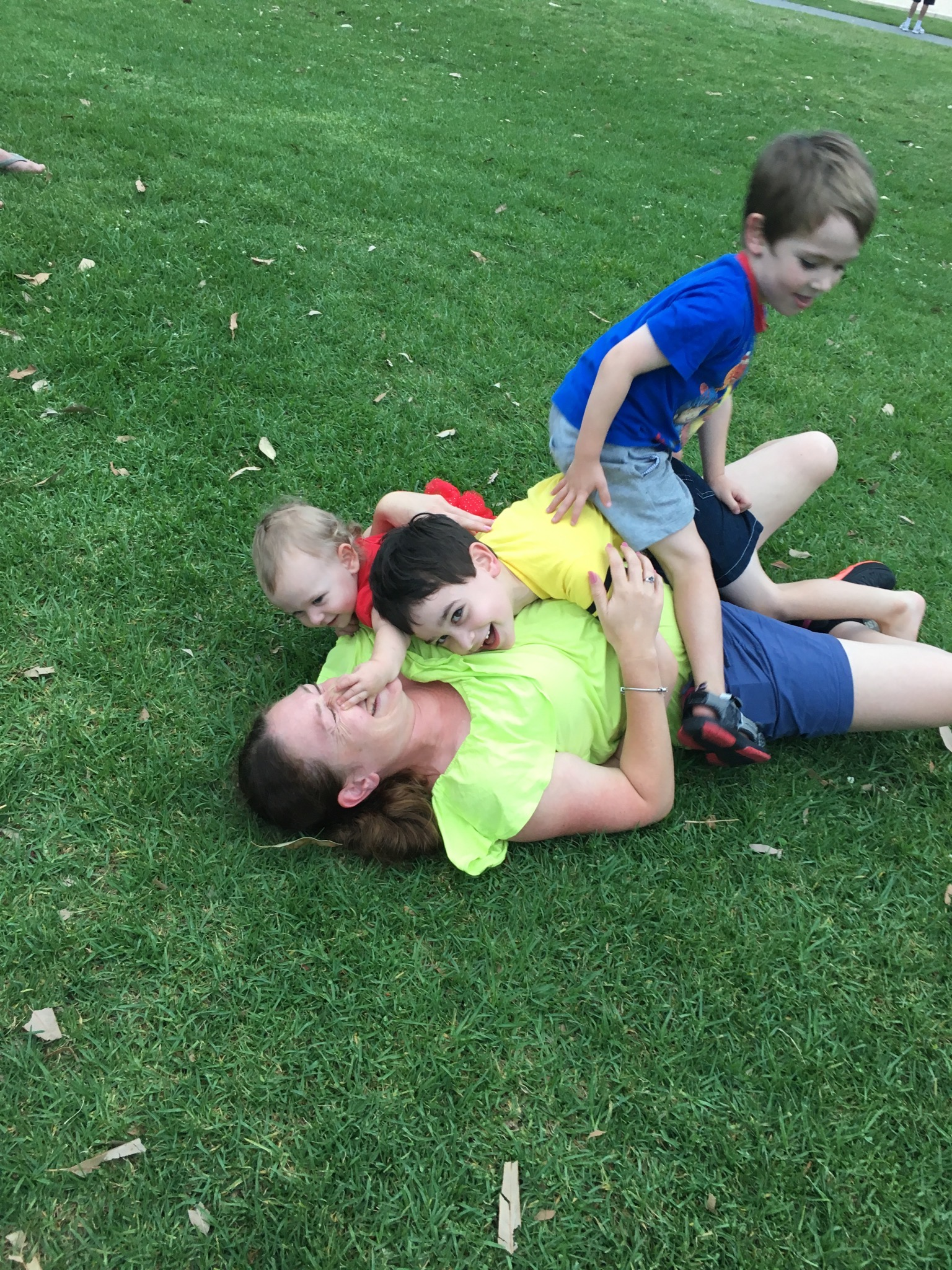 This is me, Melanie Cunningham playing with my 3 kids.
