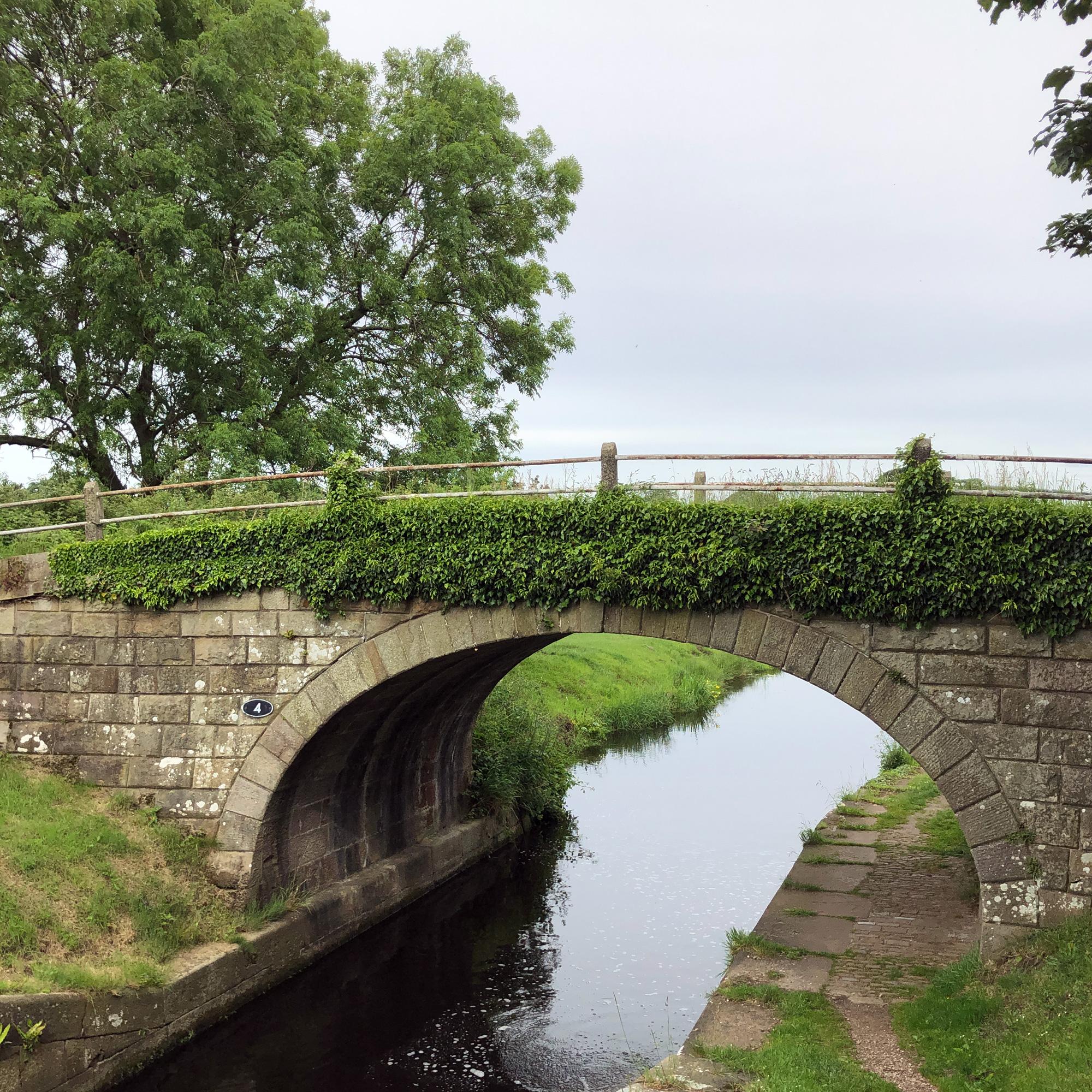 Bridge over towpath