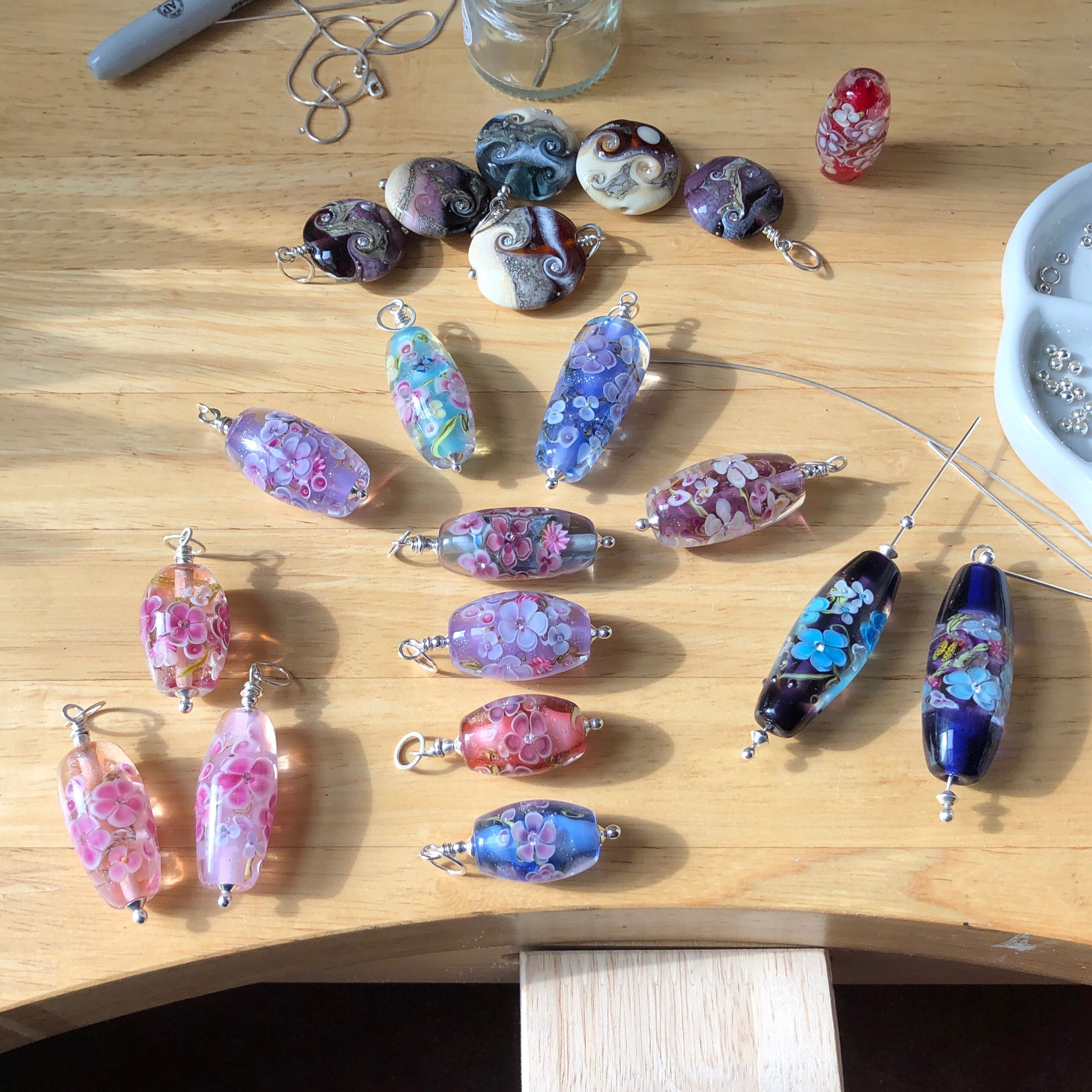Floral necklaces nearly done