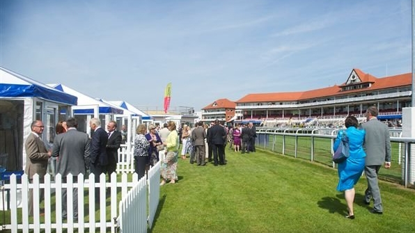 event 2: evening at chester races in private chalet -