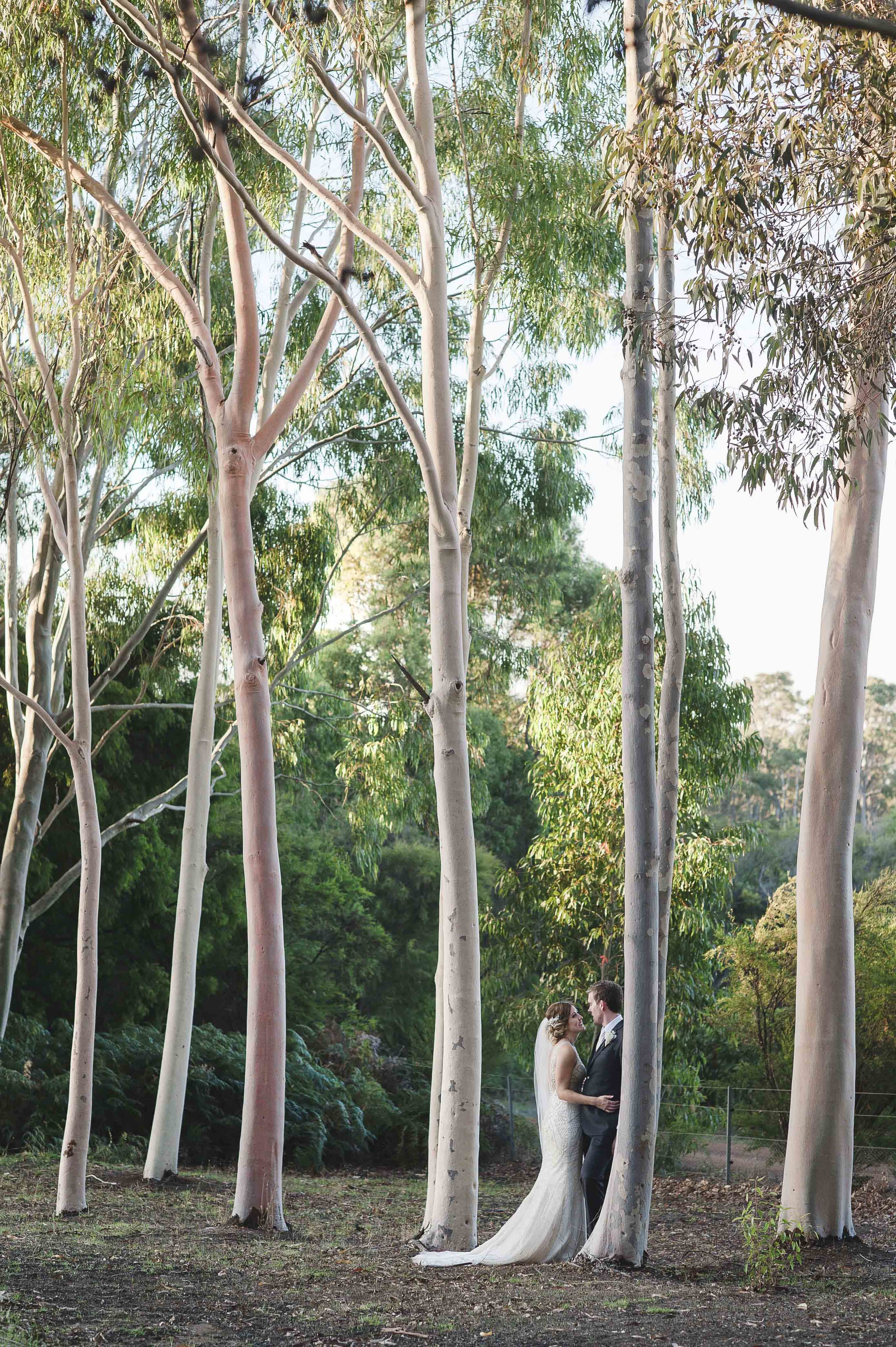 BRIDE AND GROOM AT EIGHT WILLOWS RETREAT