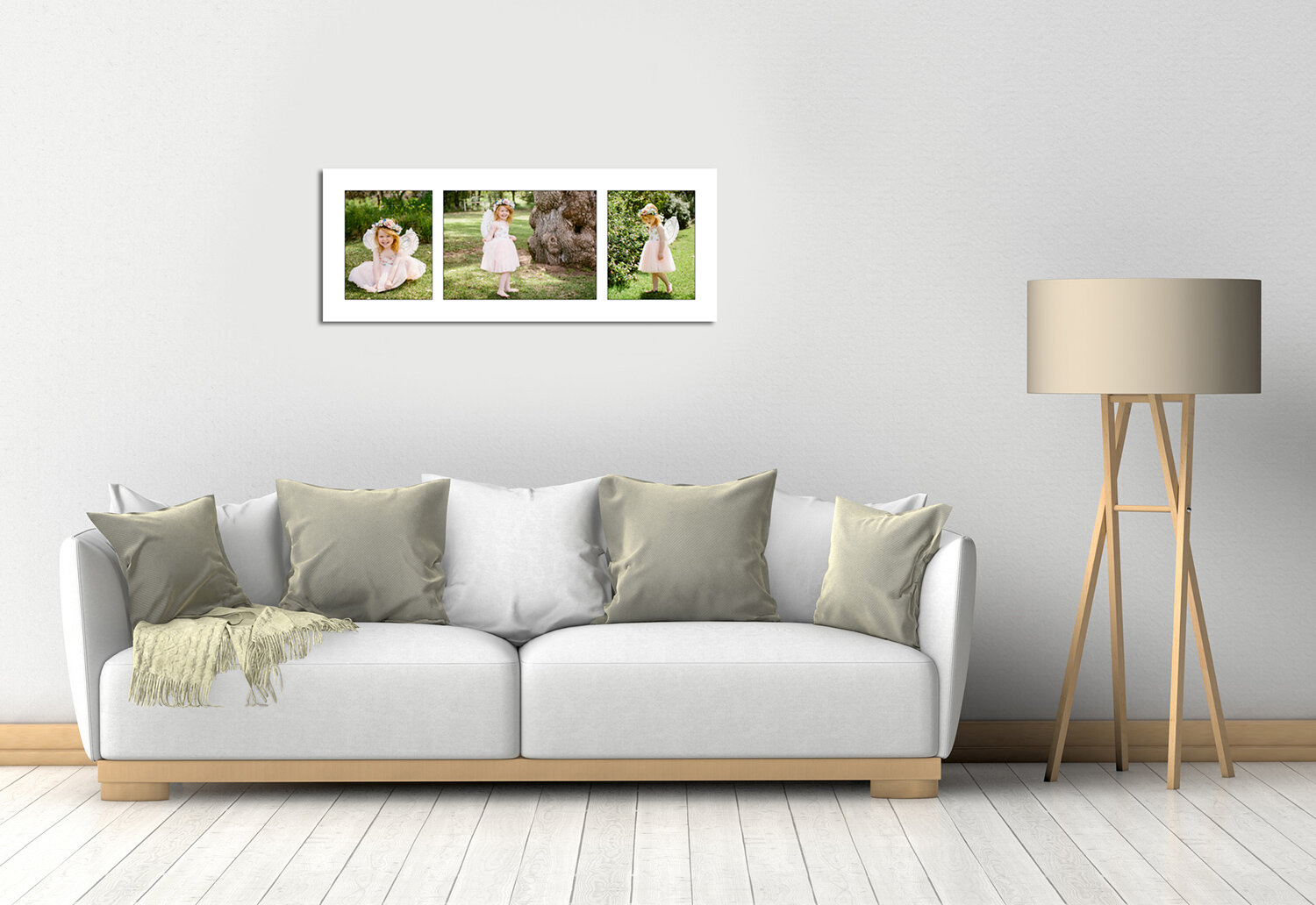 three beautiful family portraits displayed in a three photo coillage in family roomjpg.jpg