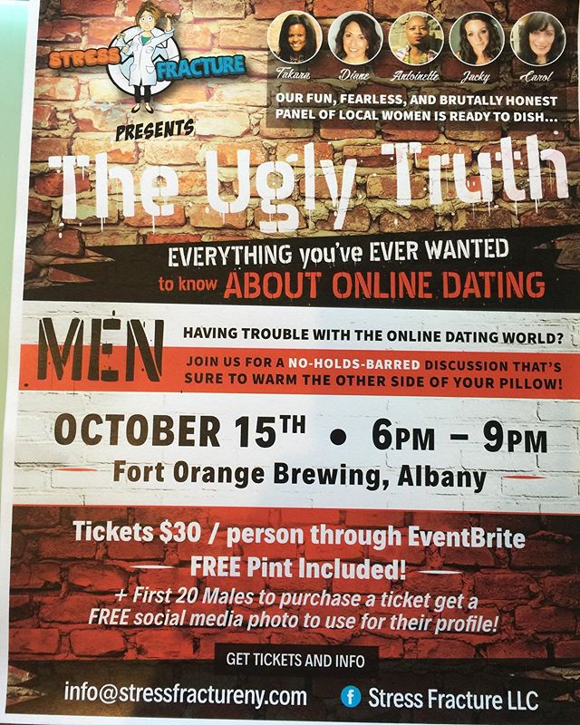 Come check out this fun, interactive event that is sure to increase your in-box messages!  This is not a man-bashing event...the goal is to help you to understand what women see in your profile.  #stressfracturellc #dating #singlemenofinstagram #onlinedating #singlemenproblems #singleparents #singledad