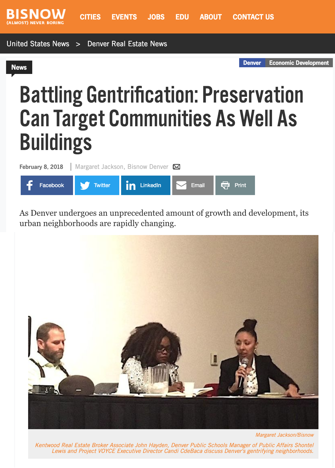 Battling Gentrification: Preservation Can Target Communities As Well As Buildings - As Denver undergoes an unprecedented amount of growth and development, its urban neighborhoods are rapidly changing.