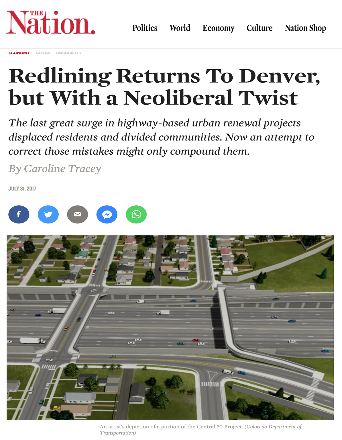 Redlining Returns To Denver, but With a Neoliberal Twist - The last great surge in highway-based urban renewal projects displaced residents and divided communities. Now an attempt to correct those mistakes might only compound them.