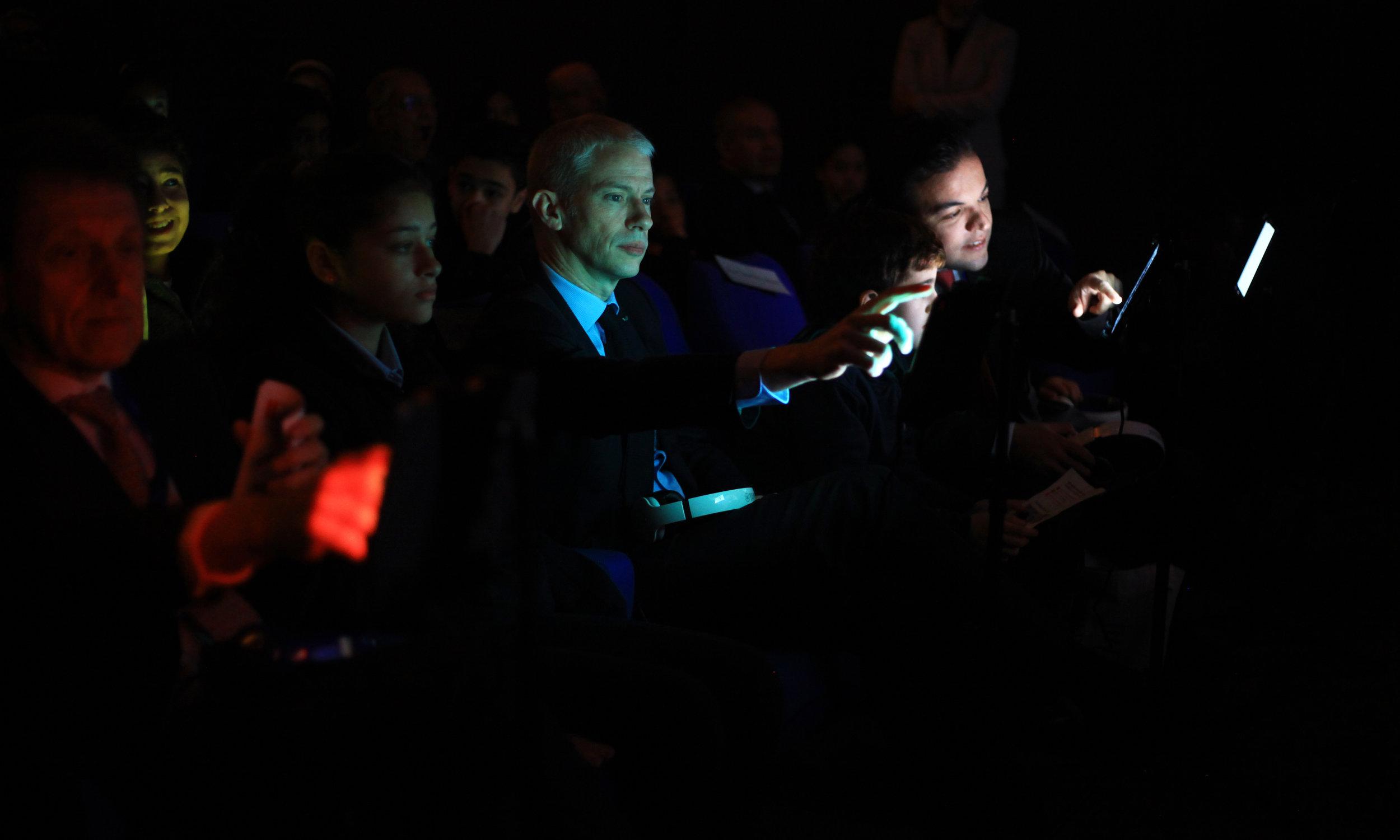 M. le Ministre de la Culture Franck Riester et M. le Conseiller de Coopération et d'Action Culturelle Mohamed Bouabdallah. Inauguration du Musée numérique. 29/01/19.