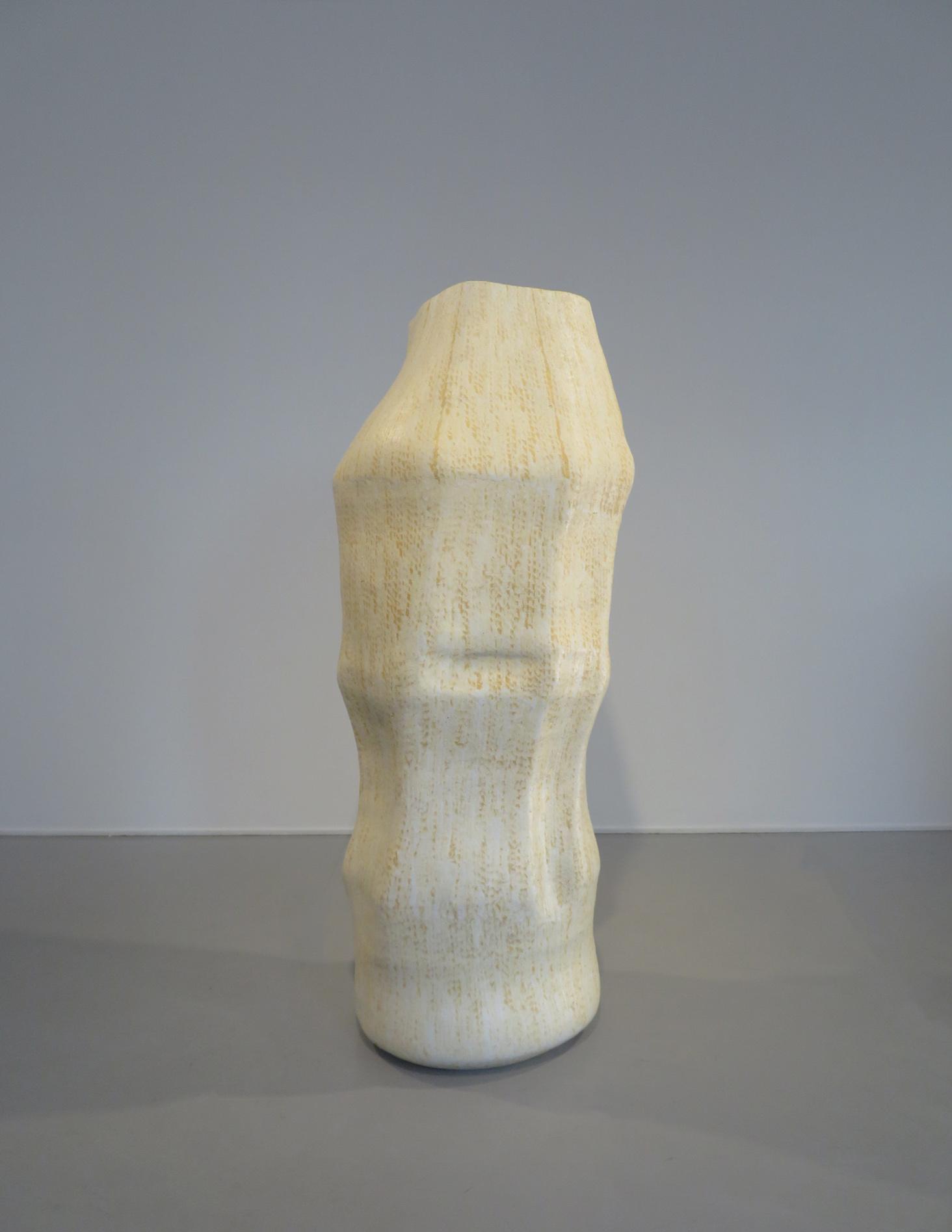 Qaa II , 2018 | Handbuilt/coiled stoneware, Hans Coper glaze with titanium oxide  Photo credit: Courtesy of Galleri Format Oslo