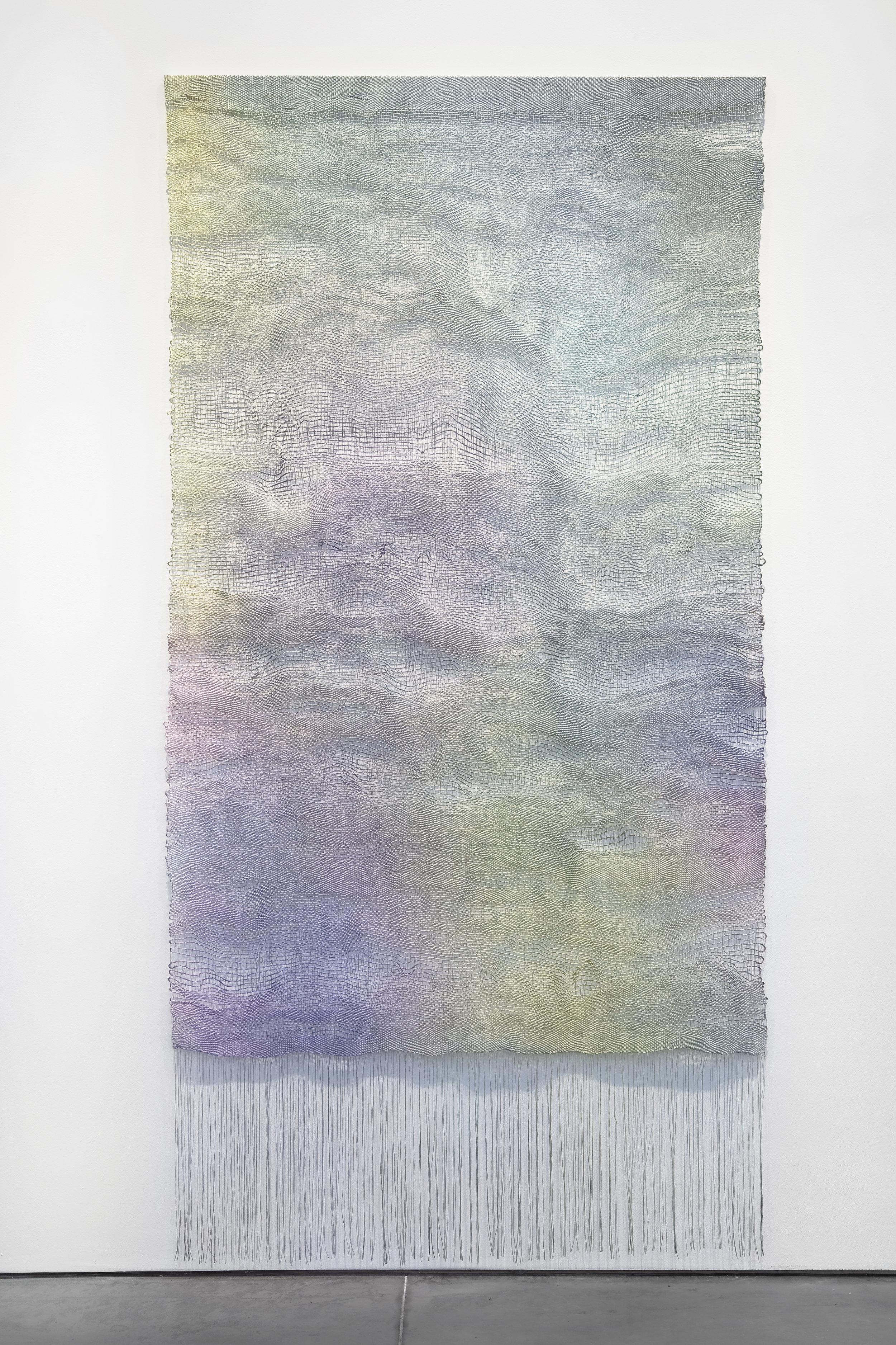 Aurora Passero, Hand woven and hand dyed nylon.jpg