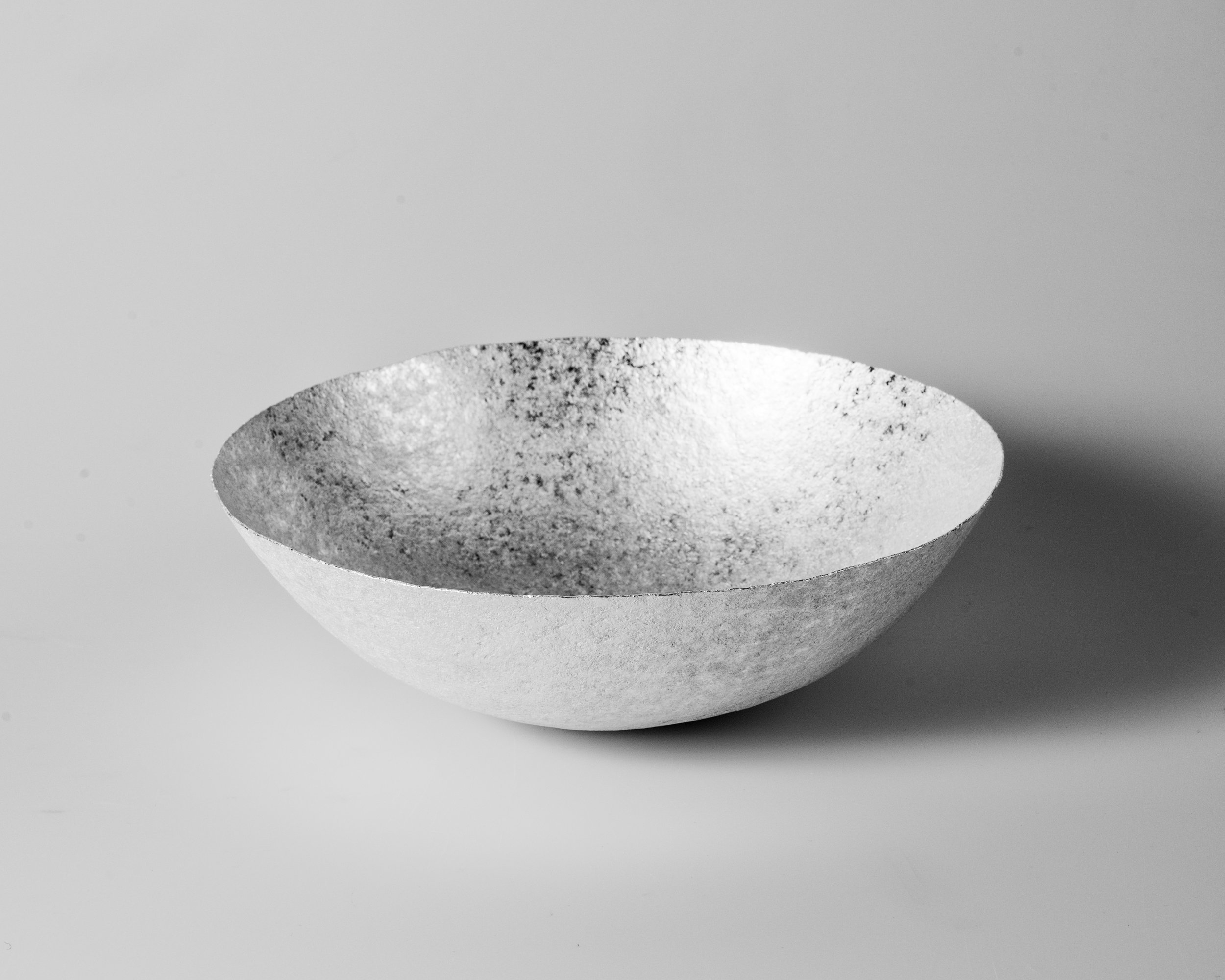 The importance of water V (Bowl), 2018  | Forged silver. 925 S. 662 g. H. 8.5 x W. 26 cm.  Photo credit: Christian Tviberg