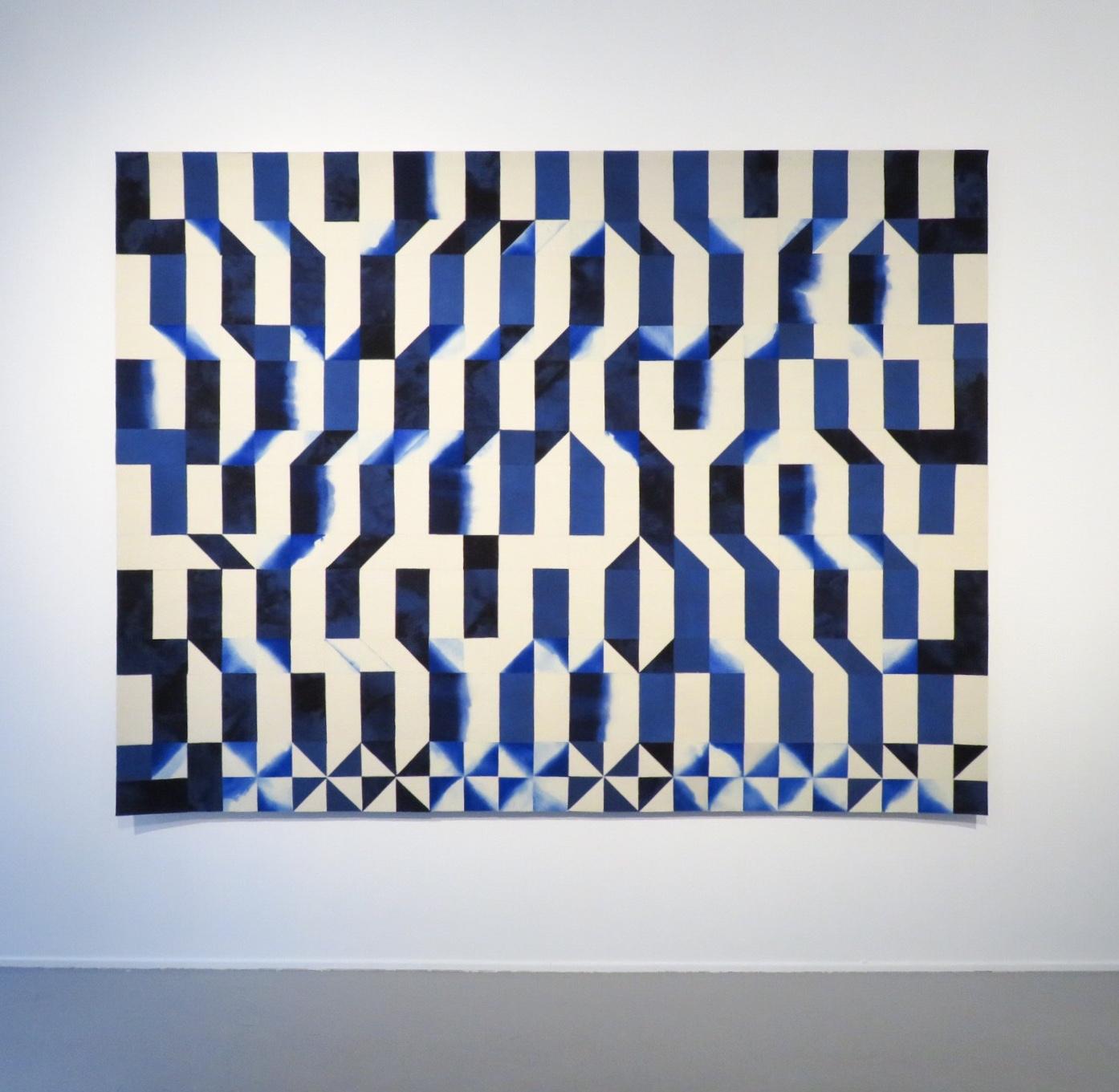 Inger Johanne Rasmussen |  Mønster gjennom tårer , 2019 | H. 187 x W. 245 cm.  Photo: Courtesy of Galleri Format Oslo