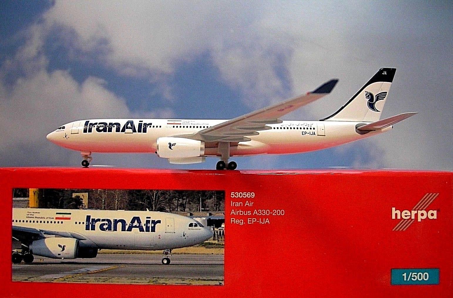 - 1/500 Iran Air A330-200 EP-IJA £30.00