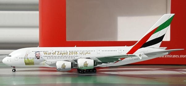 - 1/500 Emirates A380 'Year of Zayed 2018' A6-EUZ £40.00