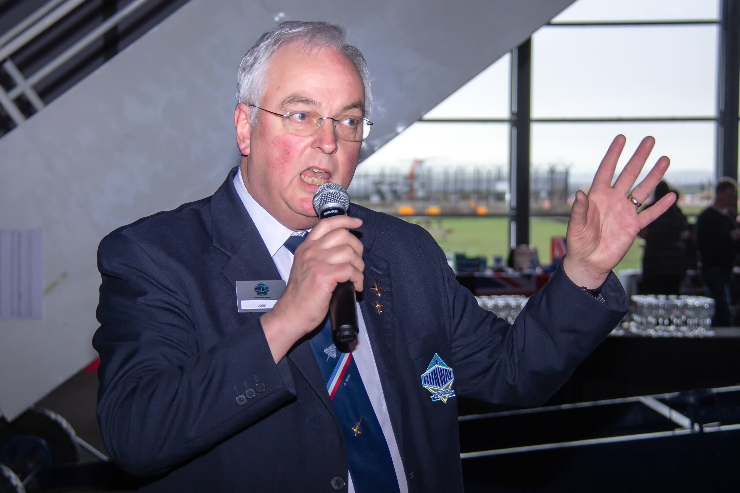 "Concorde Tour Guide and member of the event organising team - John Hepple answers the question ""Why does Concorde have a drooped nose?"""