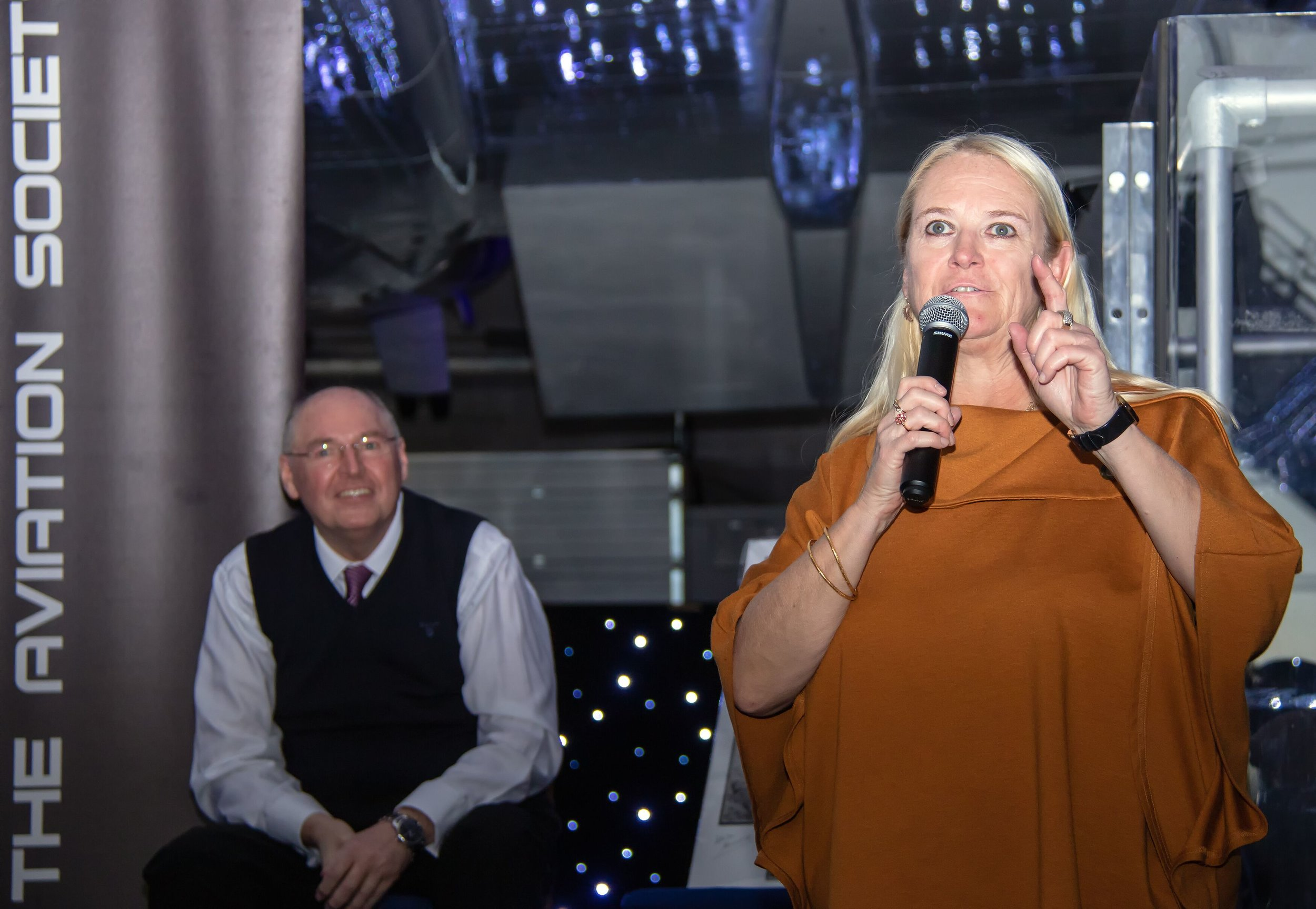 TAS Secretary and one of the event organisers Debbie Riley was kept busy throughout the event ensuring everyone had the opportunity to look on board Concorde and see all the alterations which have been made in conjunction with Heritage Concorde and TAS.