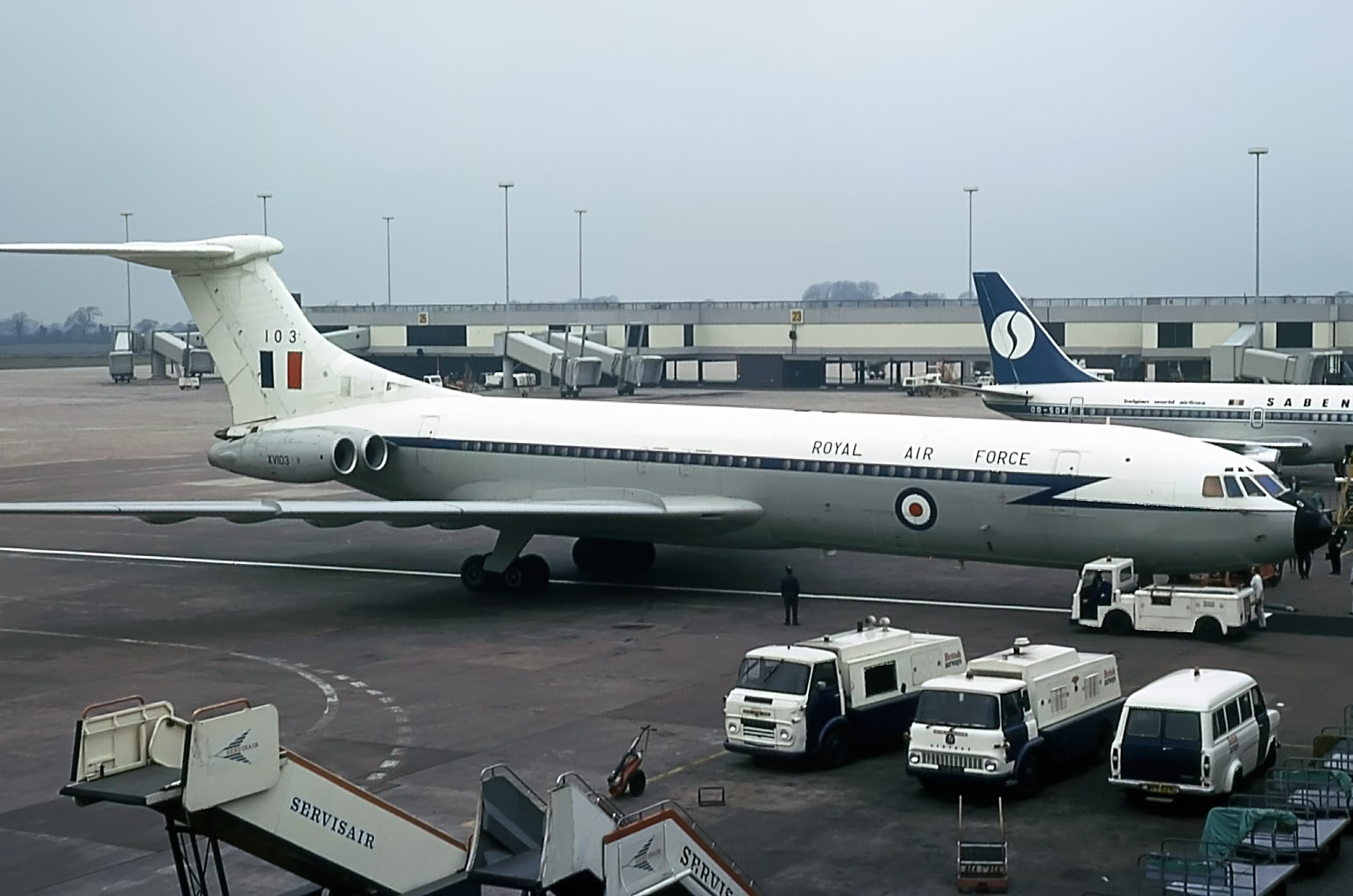 Always good to see and hear a VC10!! The Royal Air Force paid us a visit on 16th April 1975 with XV103.Photo: Peter H