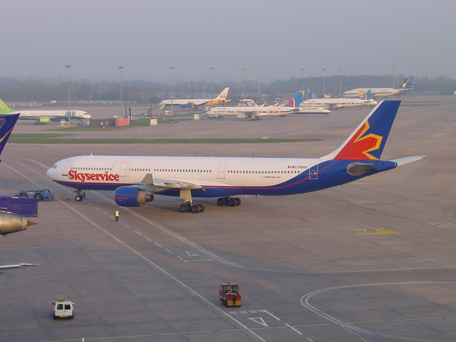 An interesting photo taken just 17 years ago (5th April 2002) looking towards the T2 aprons from the top of the T1 Multi Story Car park. How things change…not a single one of the airlines pictured (7) are still flying today! Many thanks to Steve Ashworth for sharing.
