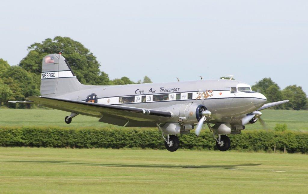 What a fantastic sight! Many thanks to Tom Hunter for sharing with us the arrival at Old Warden of N8336C on Saturday 1st June.