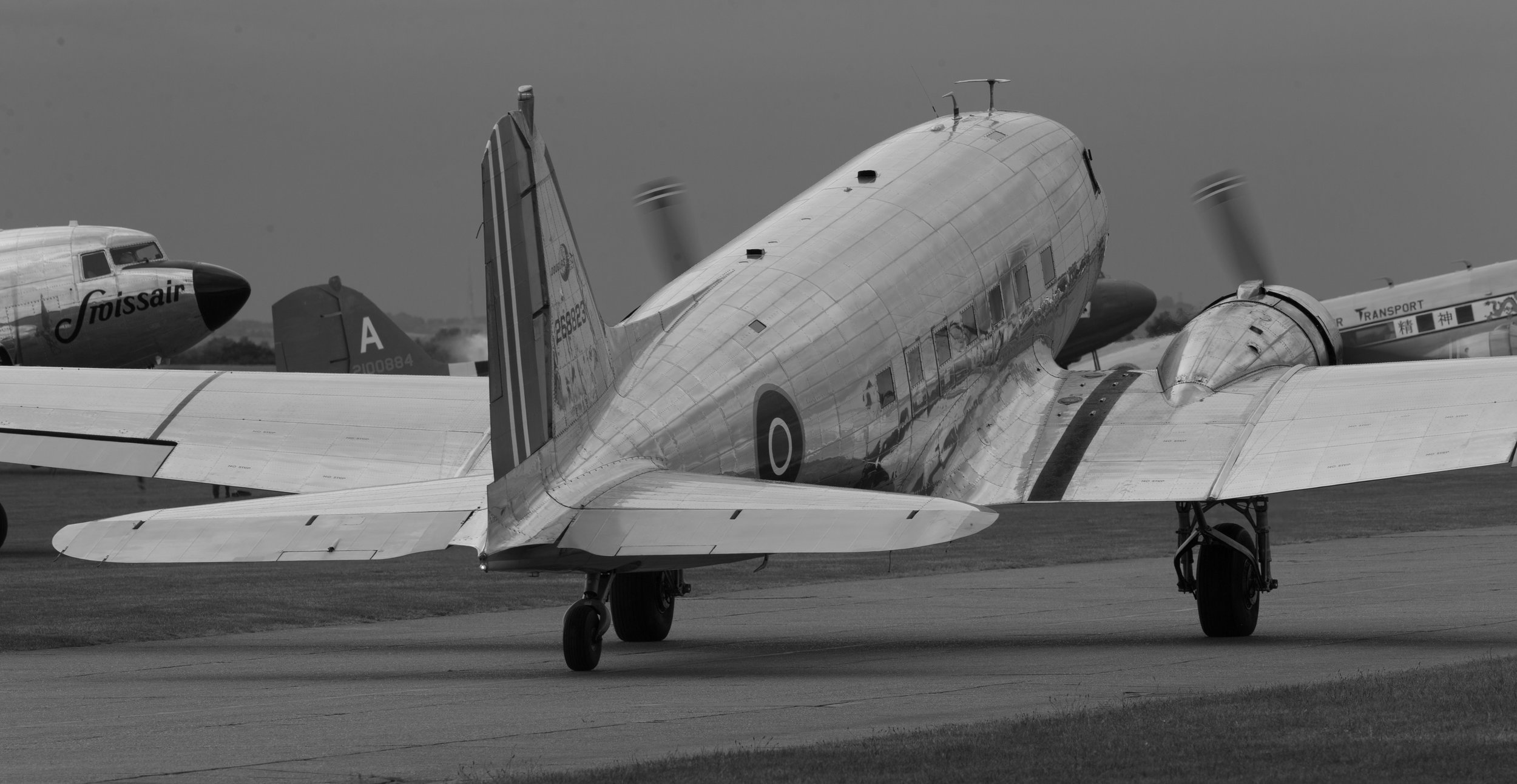 Dc3's at Duxford - 4th June 2019. Photo:Peter Hampson.