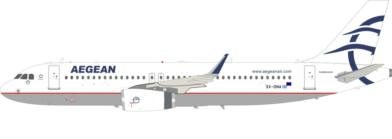 - 1/200 Aegean A320 SX-DNA'20th Anniversary Limited Edition' £80.00