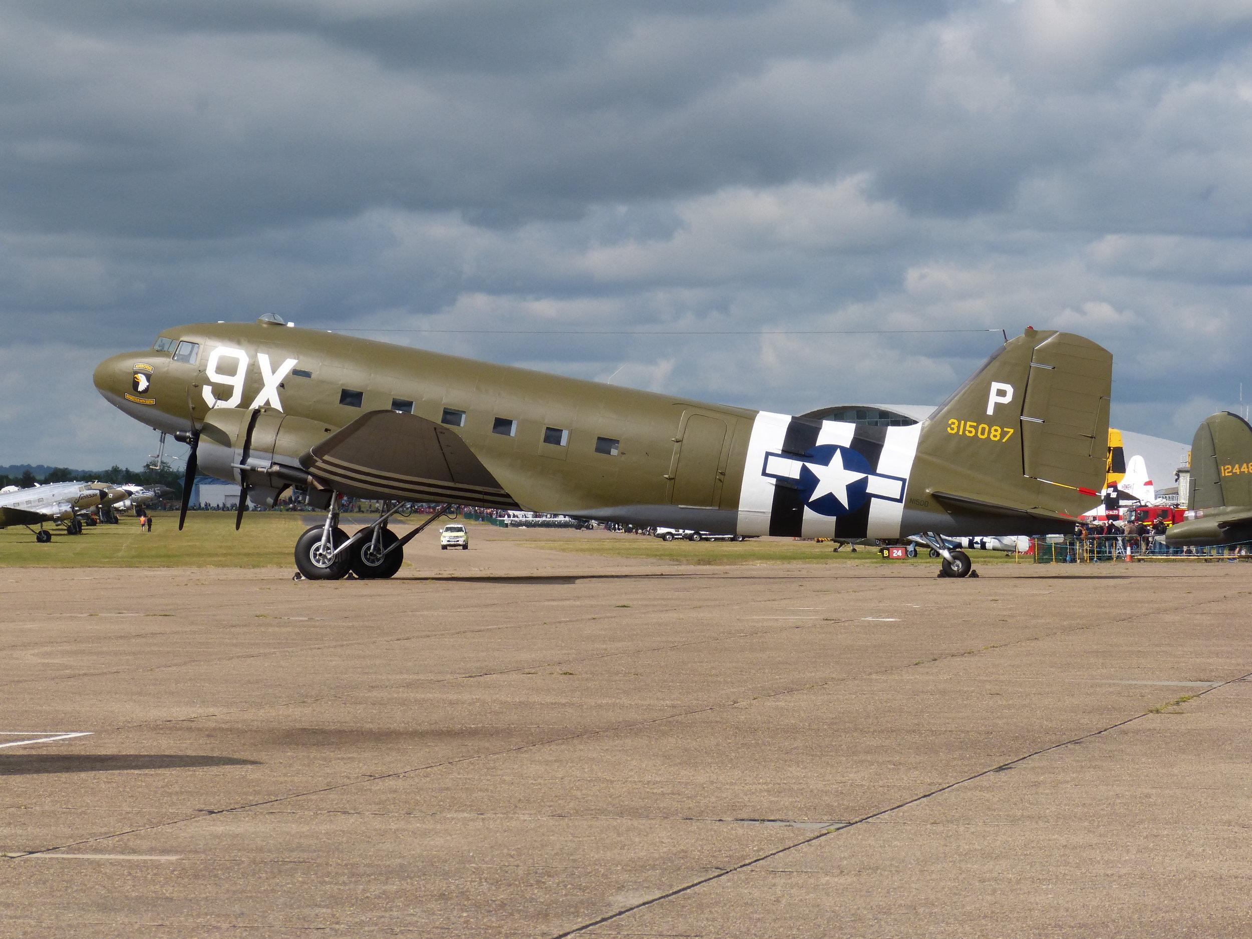 "C47B ""Dakota"" N150D 315087/9X at Duxford 5th June 2019. Photo: Richard Ansell"
