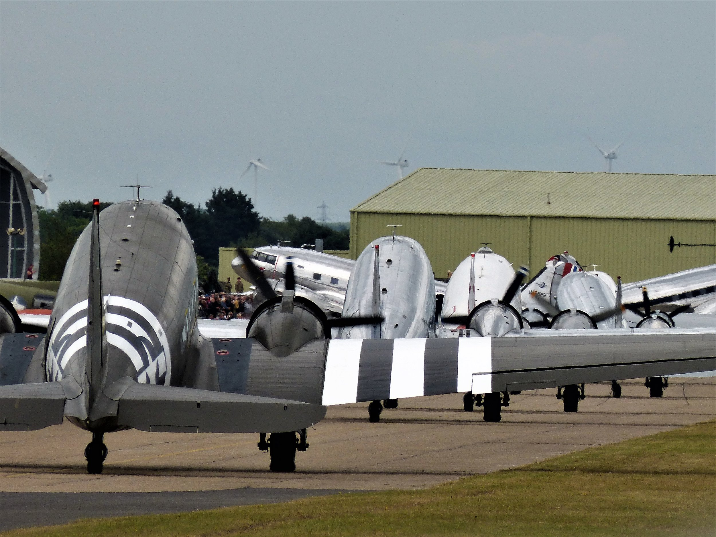 Next stop Normandy….Dakota's taxy for departure from Duxford on 5th June. Photo: Richard Ansell.