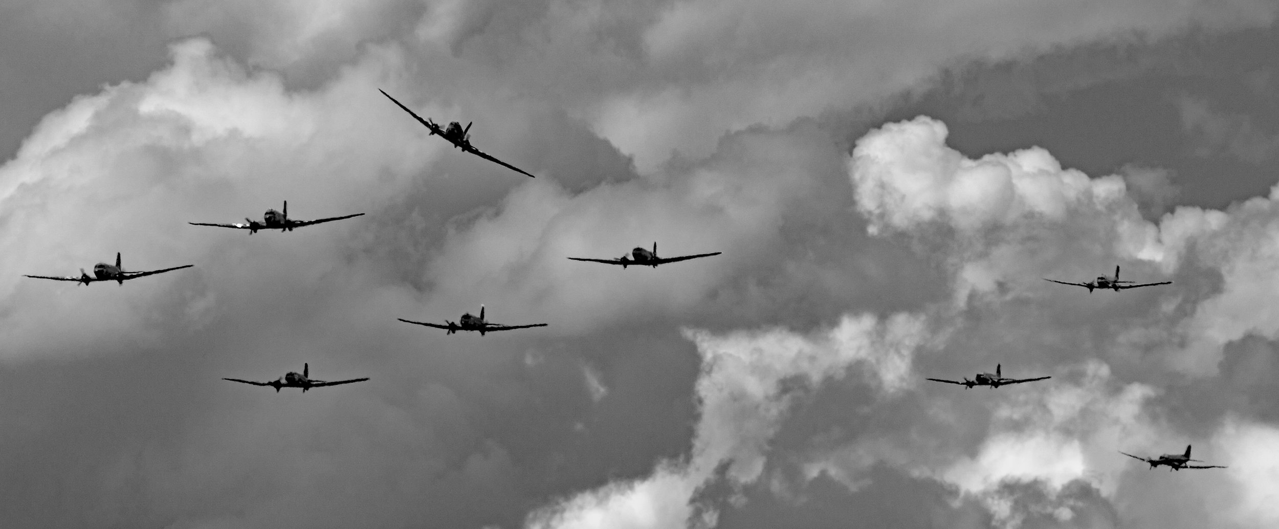 """Dak's over Normandy""..D-Day Commemorations - Caen, Normandy - 6th June 2019. Photo: Peter Hampson"