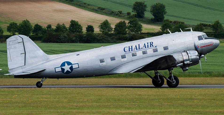 """Chalair"" F-AZOX from La Ferte Alais at Duxford 4th June 2019."