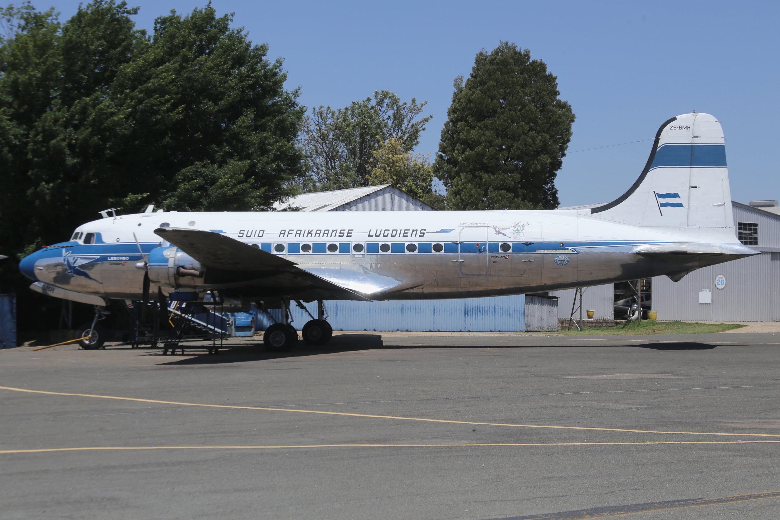 ZS-BMH SAA Historic Flight Douglas DC4-1009 taken at Rand 8th November 2018 by John Wood