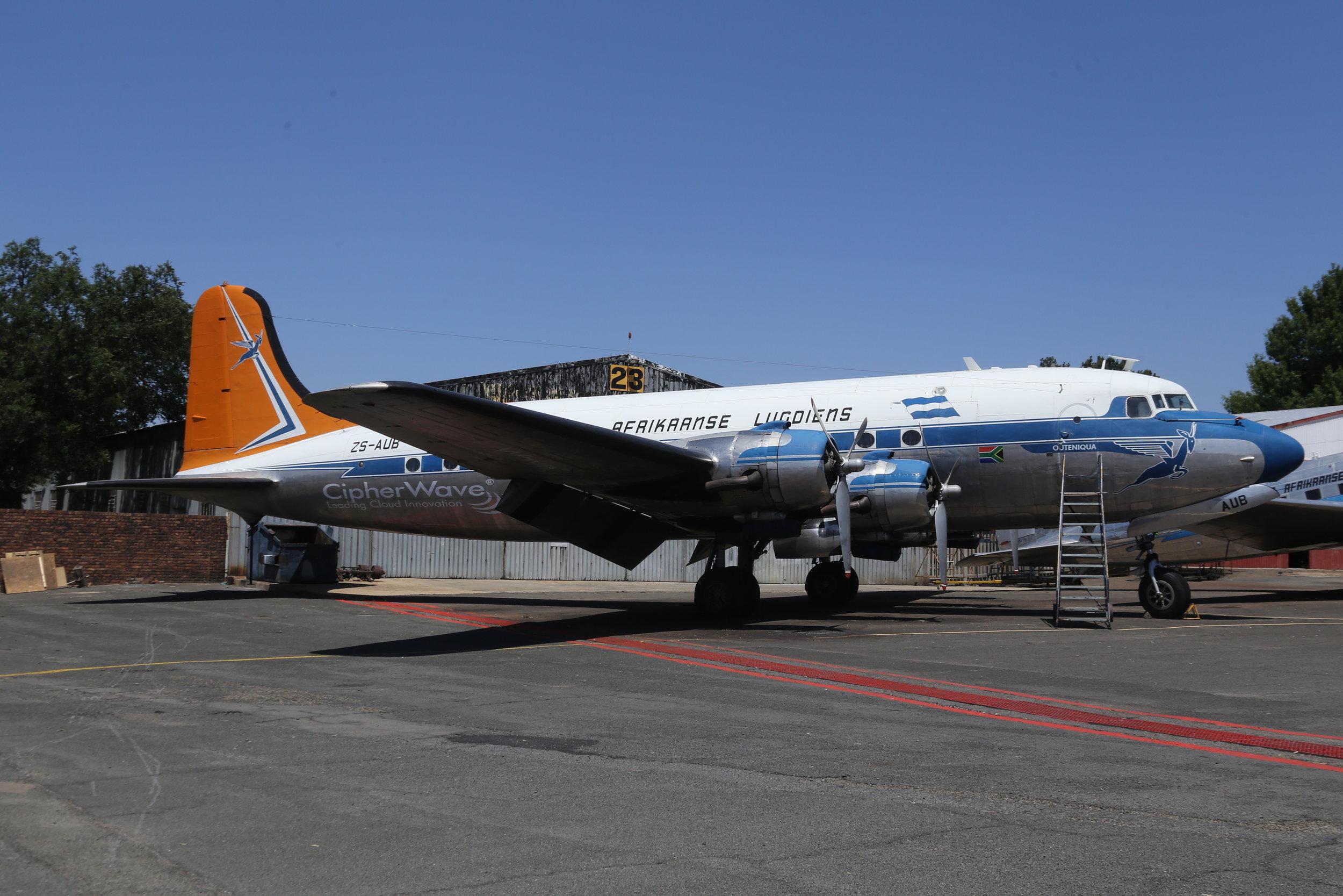 ZS-AUB SAA Historic Flight Douglas DC4-1009 taken at Rand 8th November 2018 by John Wood