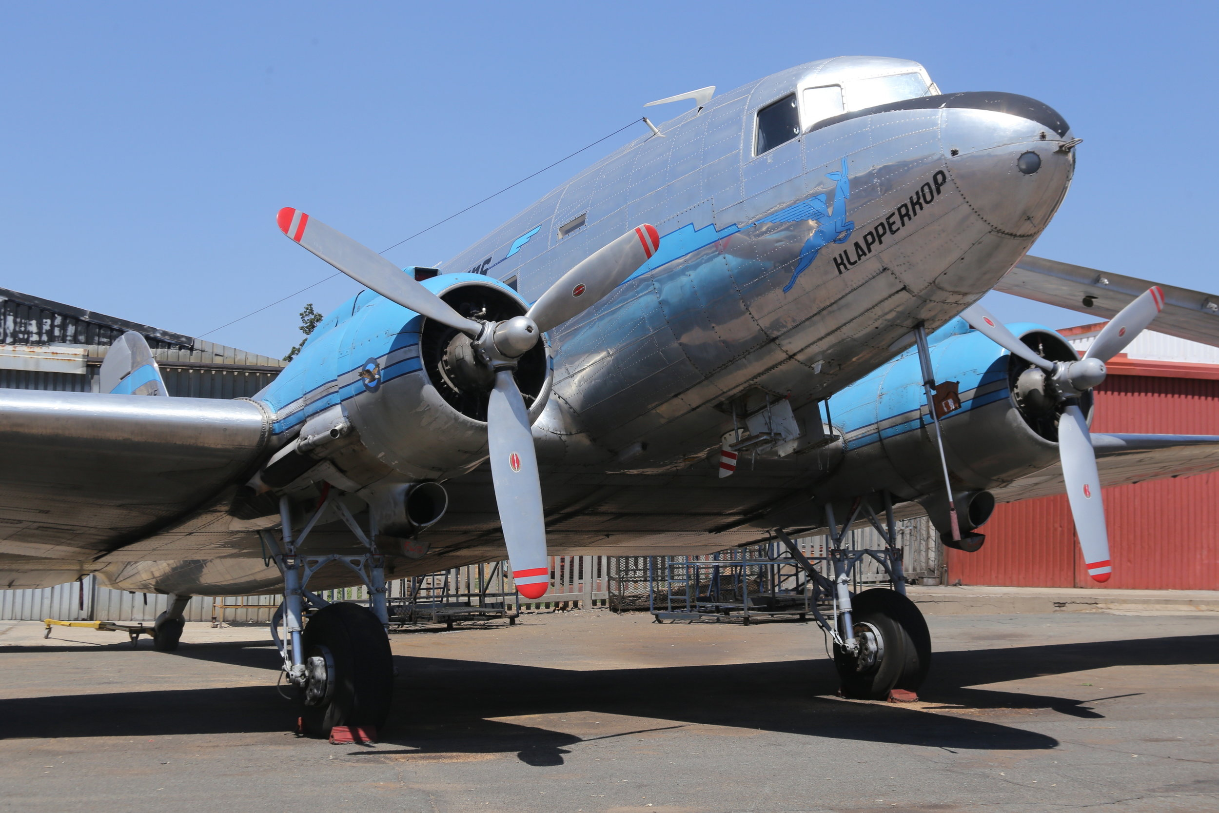 ZS-BXF SAA Historic Flight Douglas C-47A Skytrain taken at Rand 8th November 2018 by John Wood