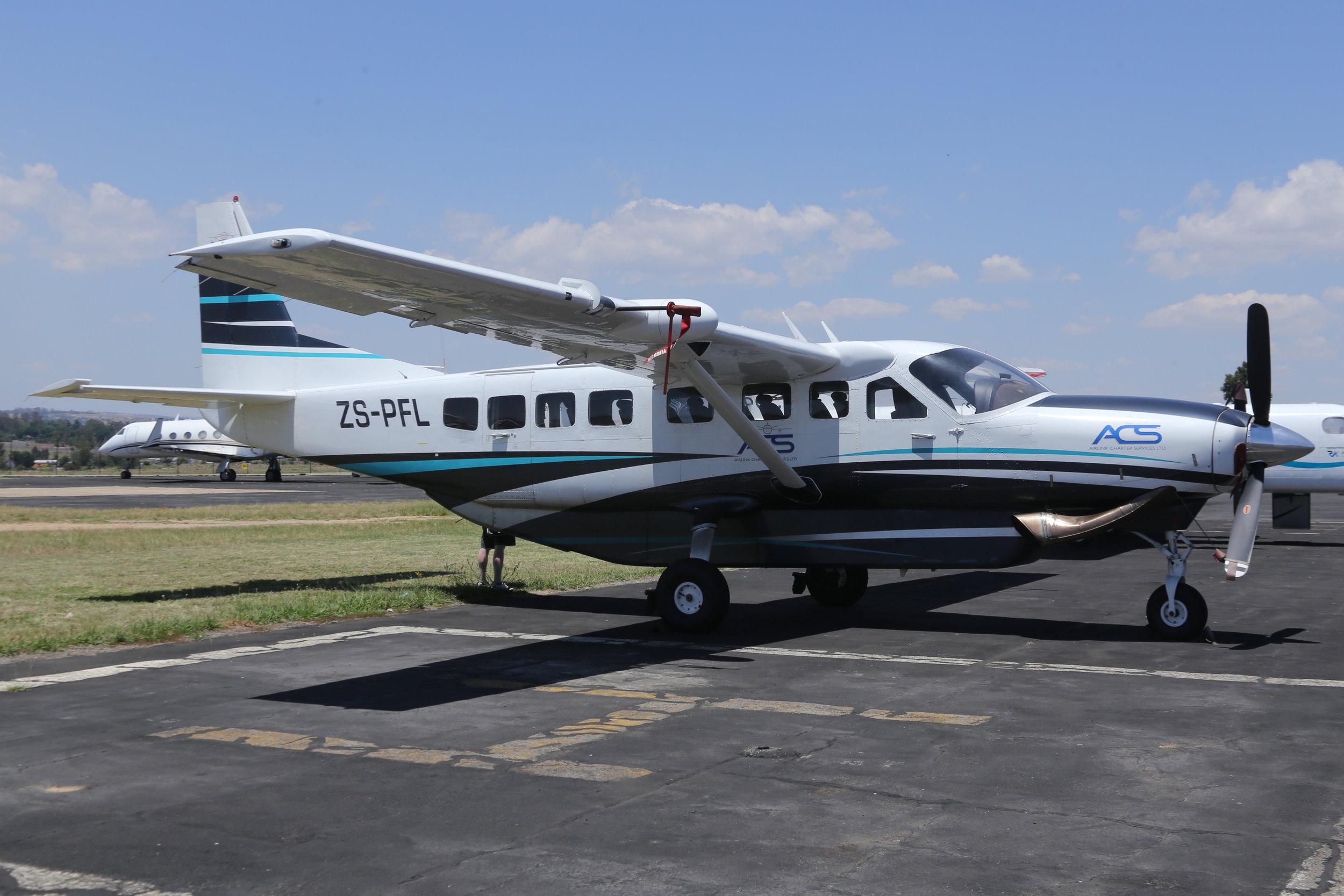 ZS-PFL ACS Cessna 208 taken at Lanseria 9th November 2018 by John Wood