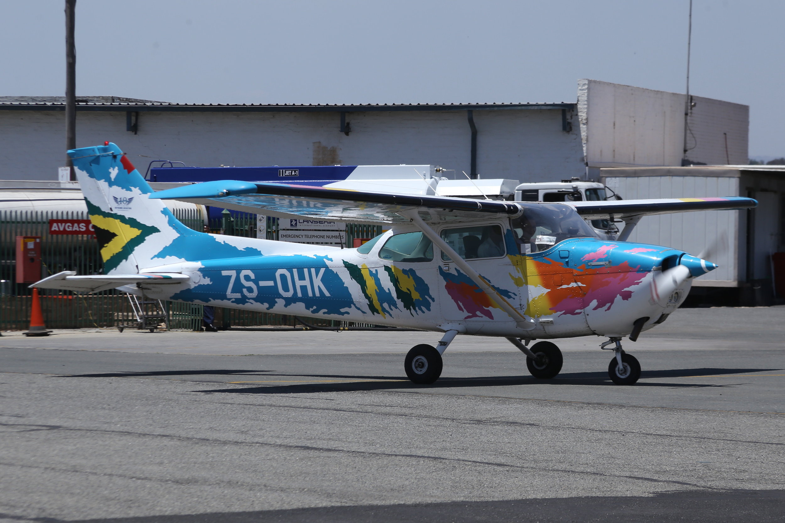 ZS-OHK Cessna 172 taken at Lanseria 9th November 2018 by John Wood