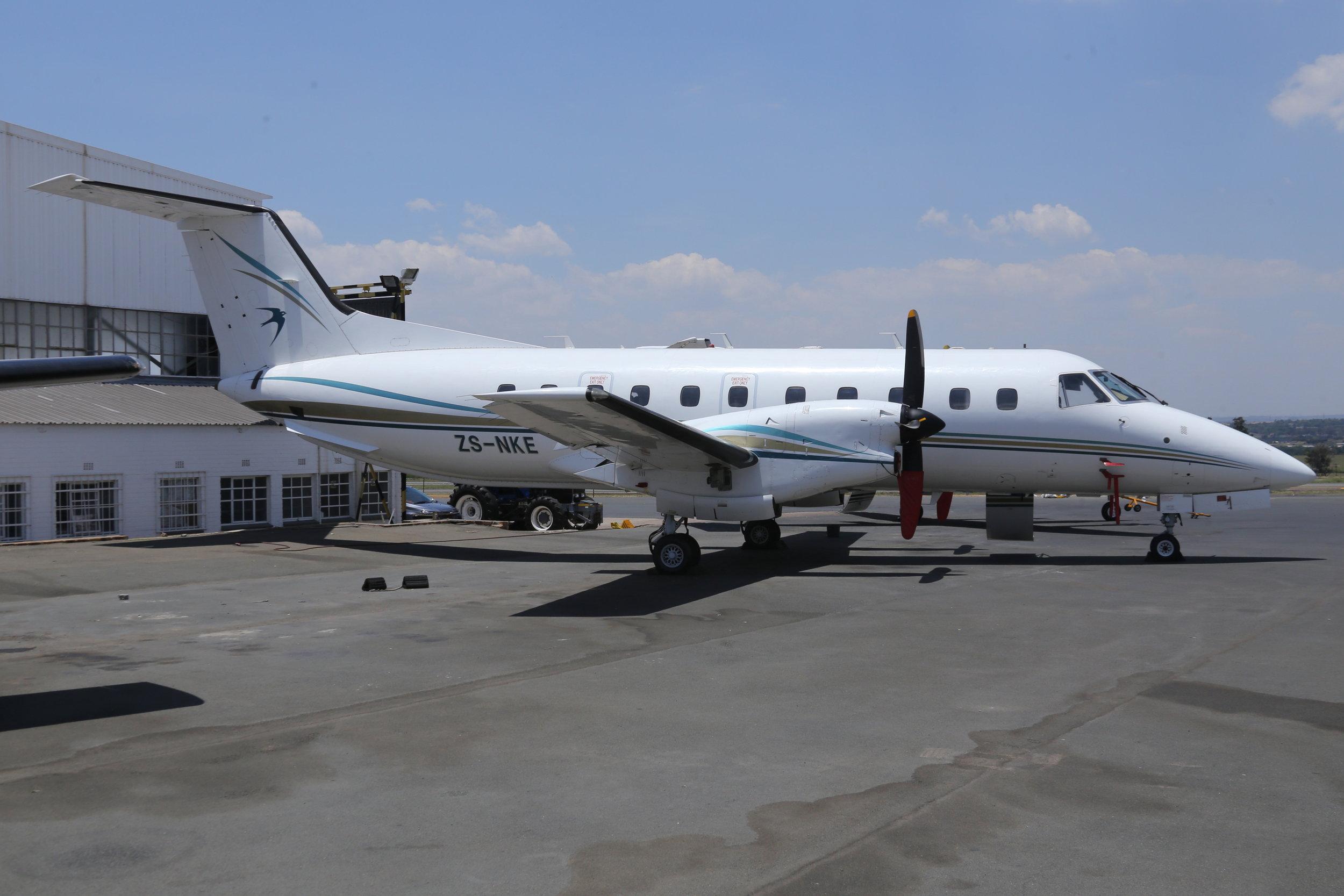 ZS-NKE Embraer 120 taken at Lanseria 9th November 2018 by John Wood