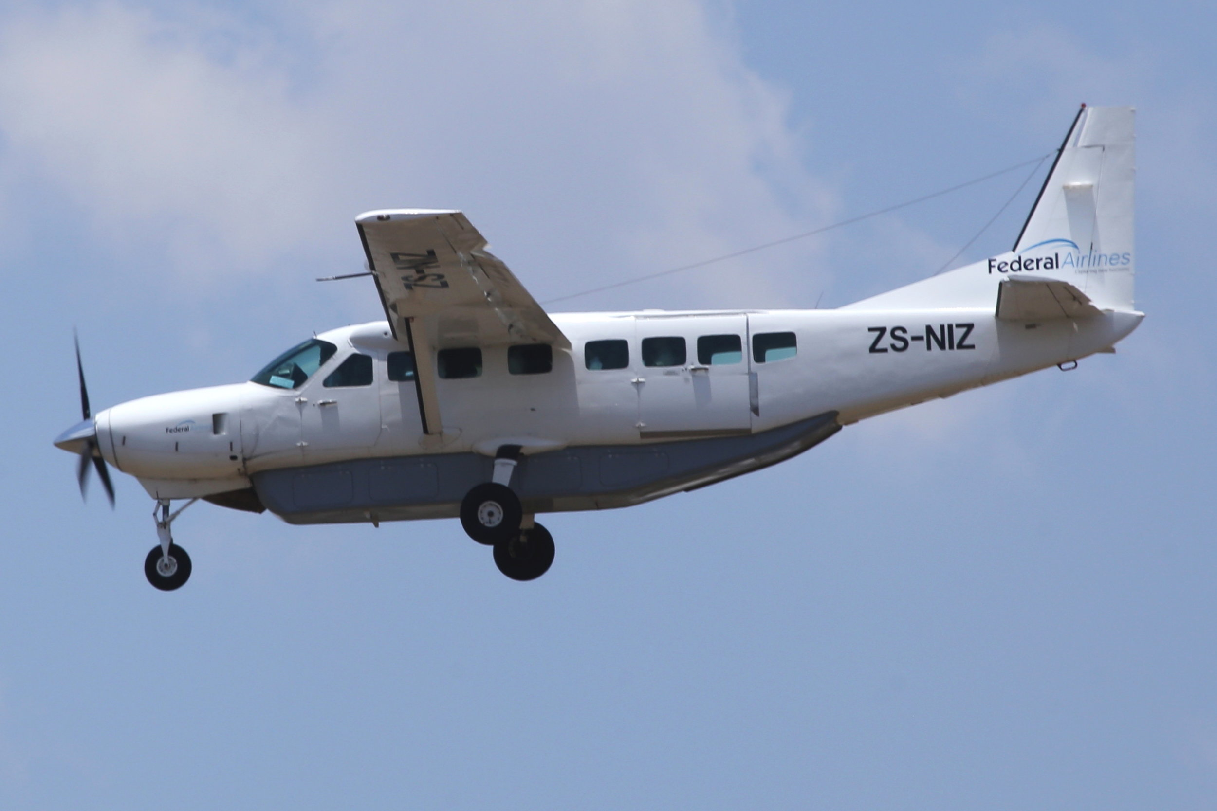 ZS-NIZ Federal Airlines C208 taken at Johannesburg 10th November 2018 by John Wood