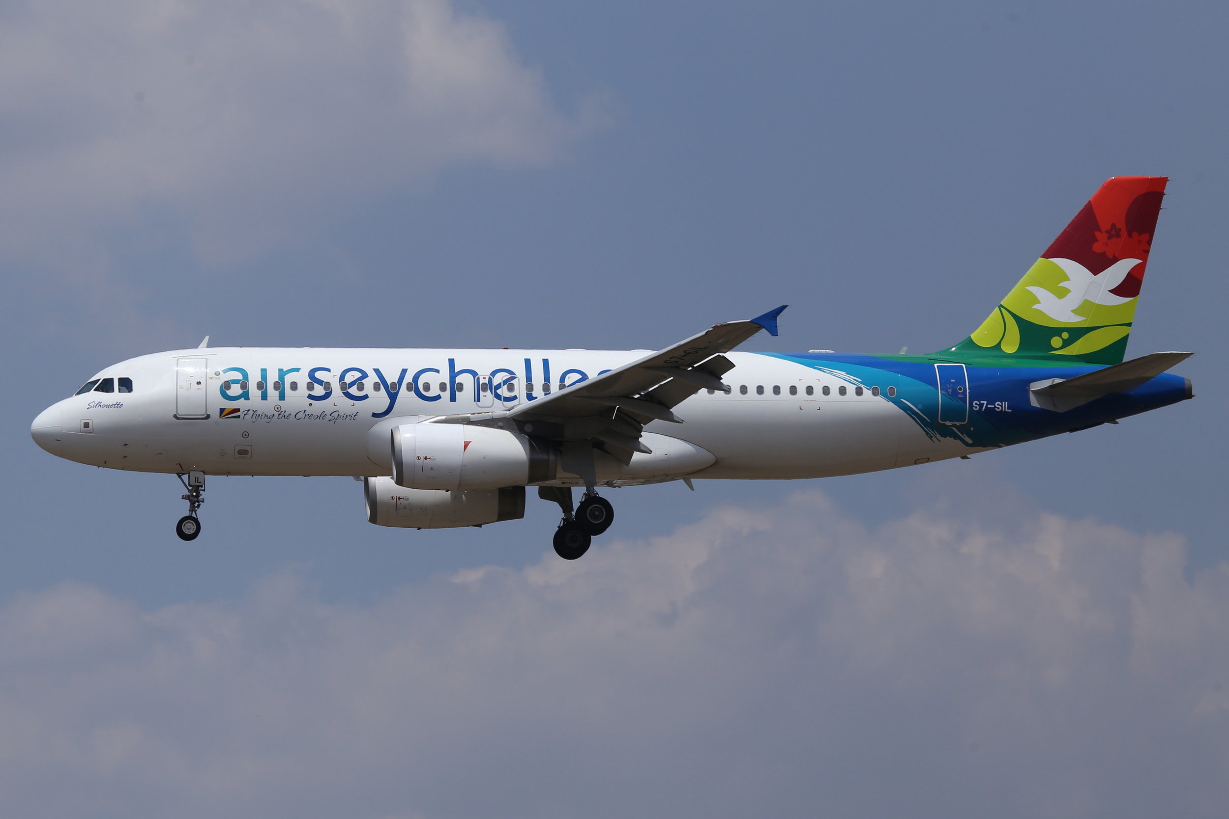 S7-SIL Air Seychelles A320 taken at Johannesburg 10th November 2018 by John Wood