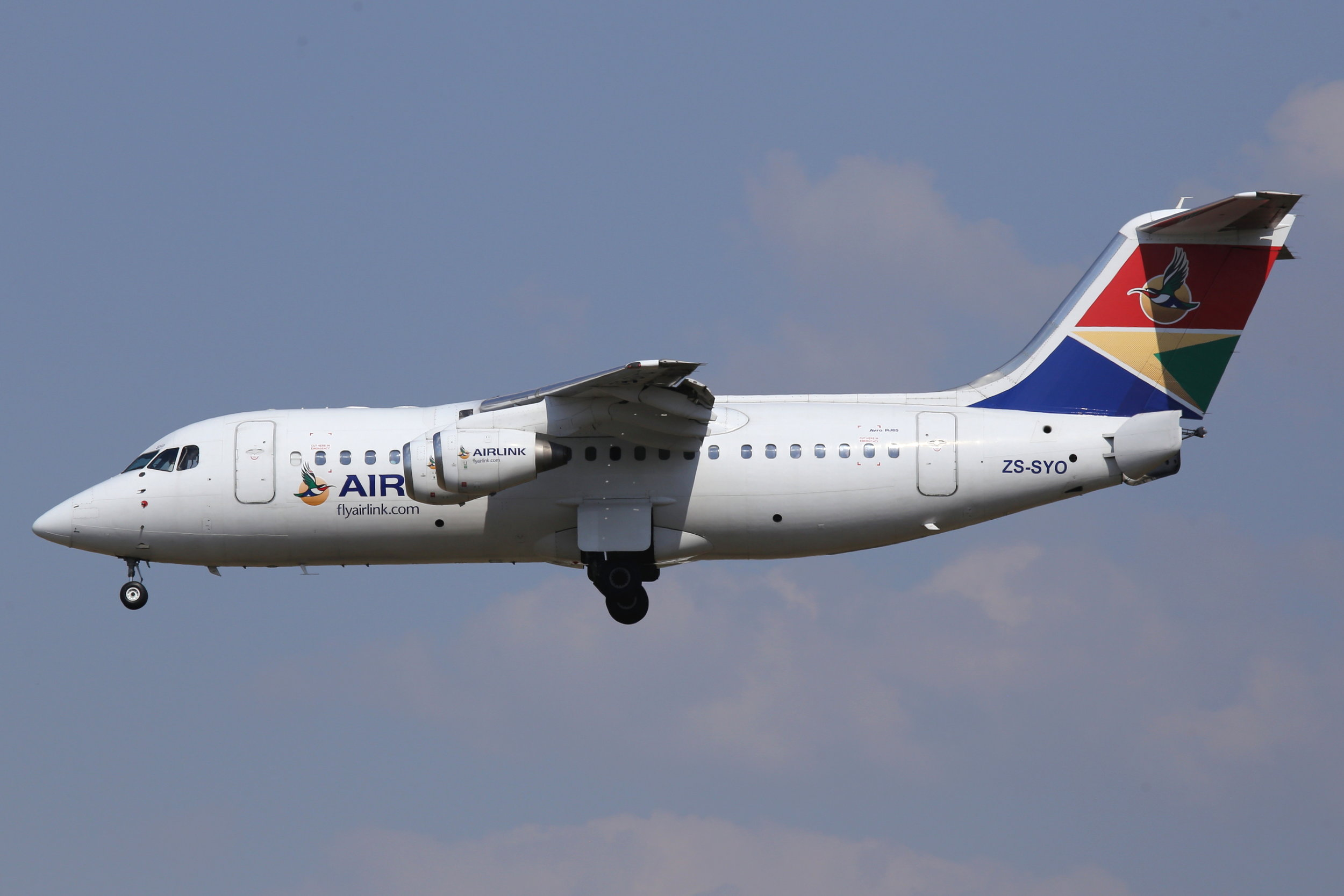 ZS-SYO SAA Airlink BAE 146-RJ85 taken at Johannesburg 10th November 2018 by John Wood