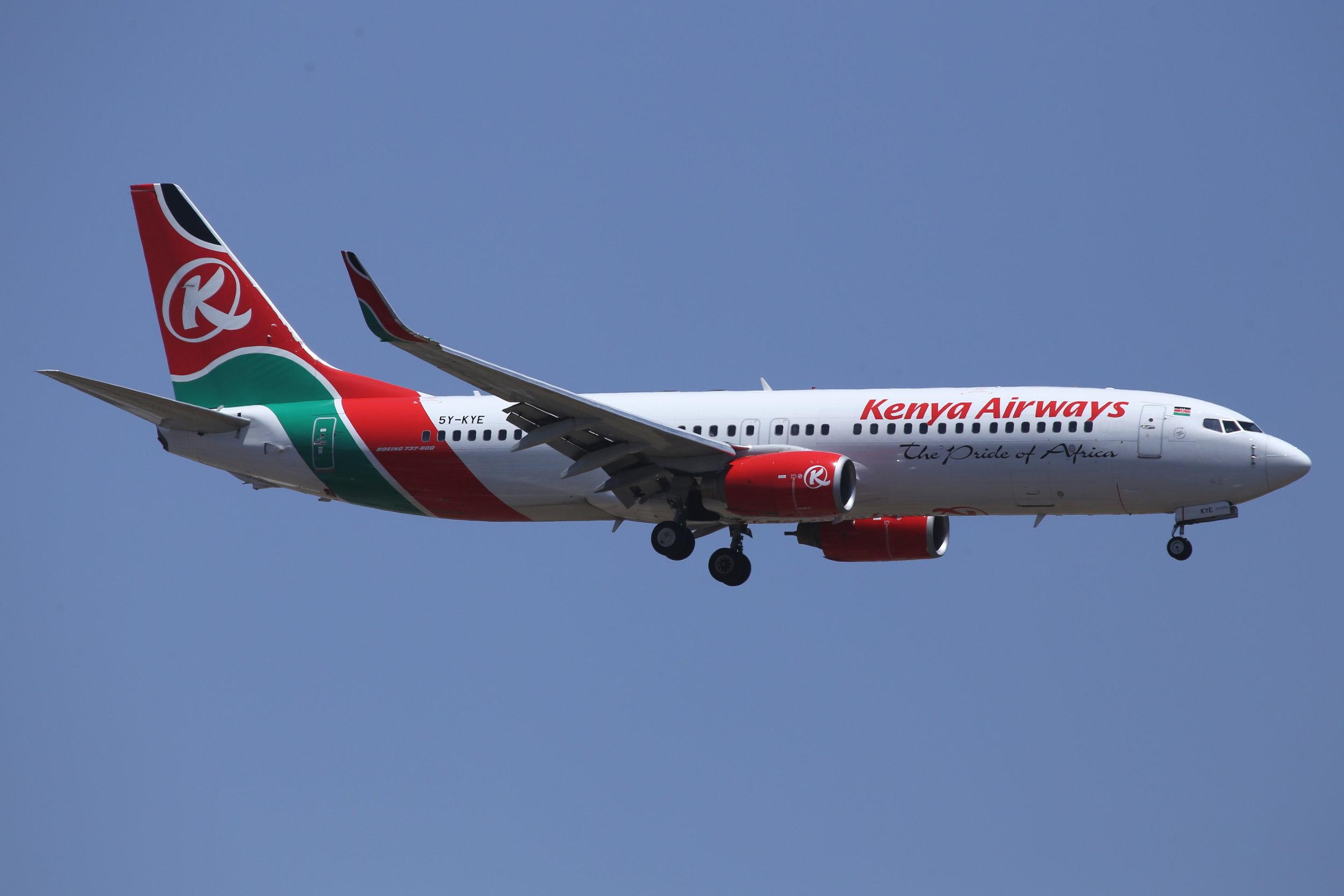 5Y-KYE Kenya Airways B737-8W taken at Johannesburg 11th November 2018 by John Wood