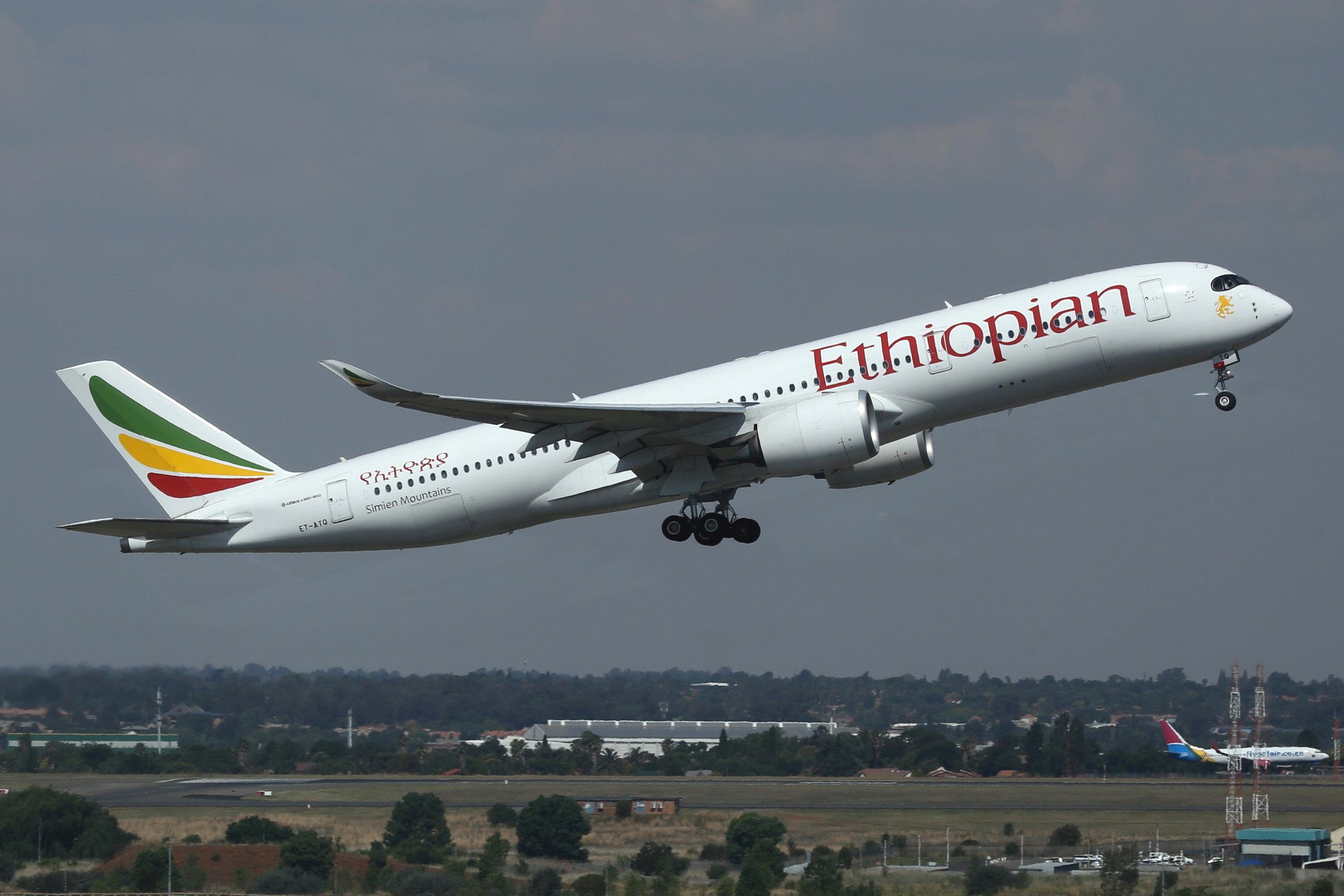 ET-ATQ Ethiopian A350-9 taken at Johannesburg 11th November 2018 by John Wood