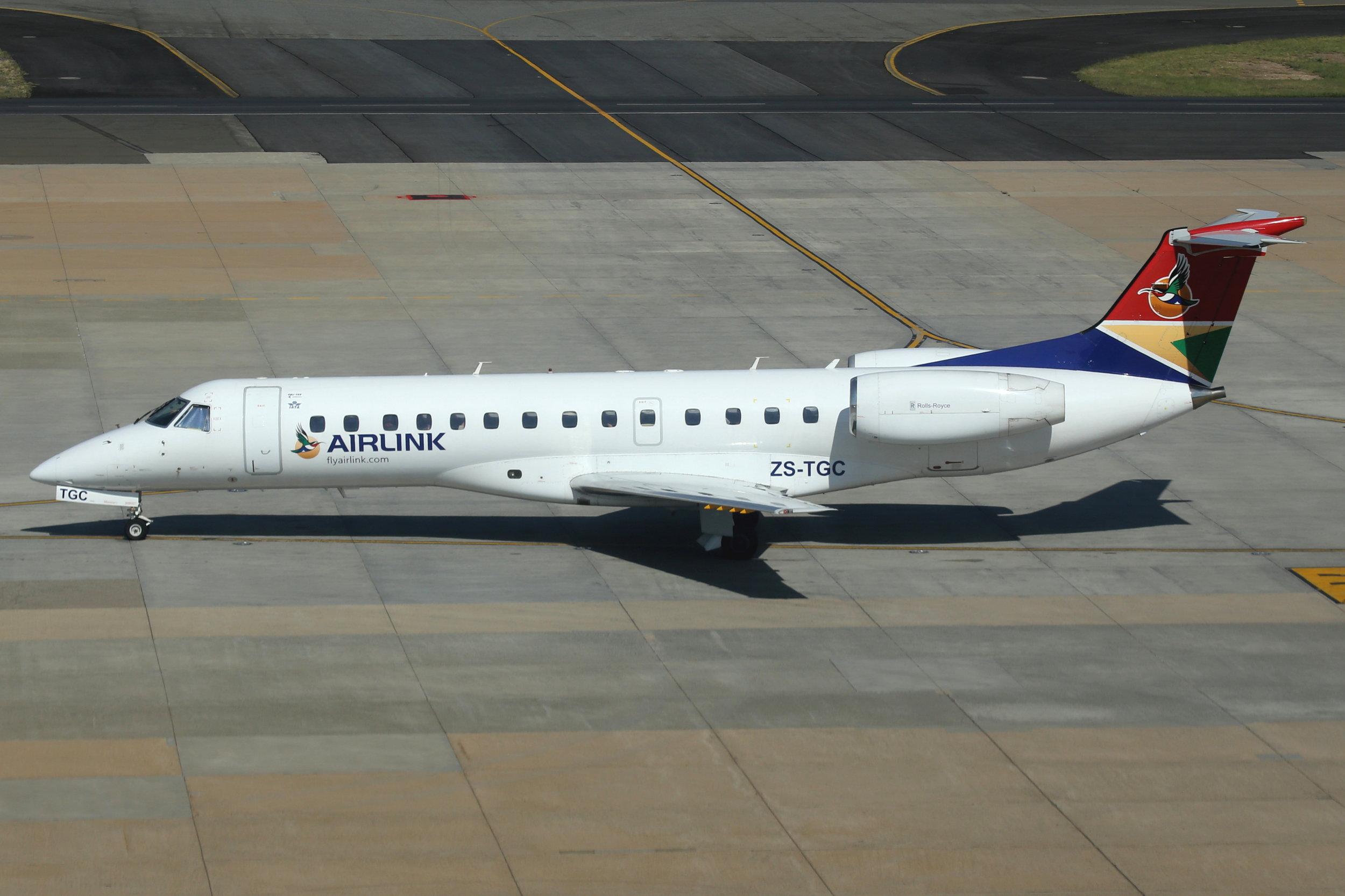 ZS-TGC SAA Airlink Embraer 135 taken at Johannesburg 11th November 2018 by John Wood