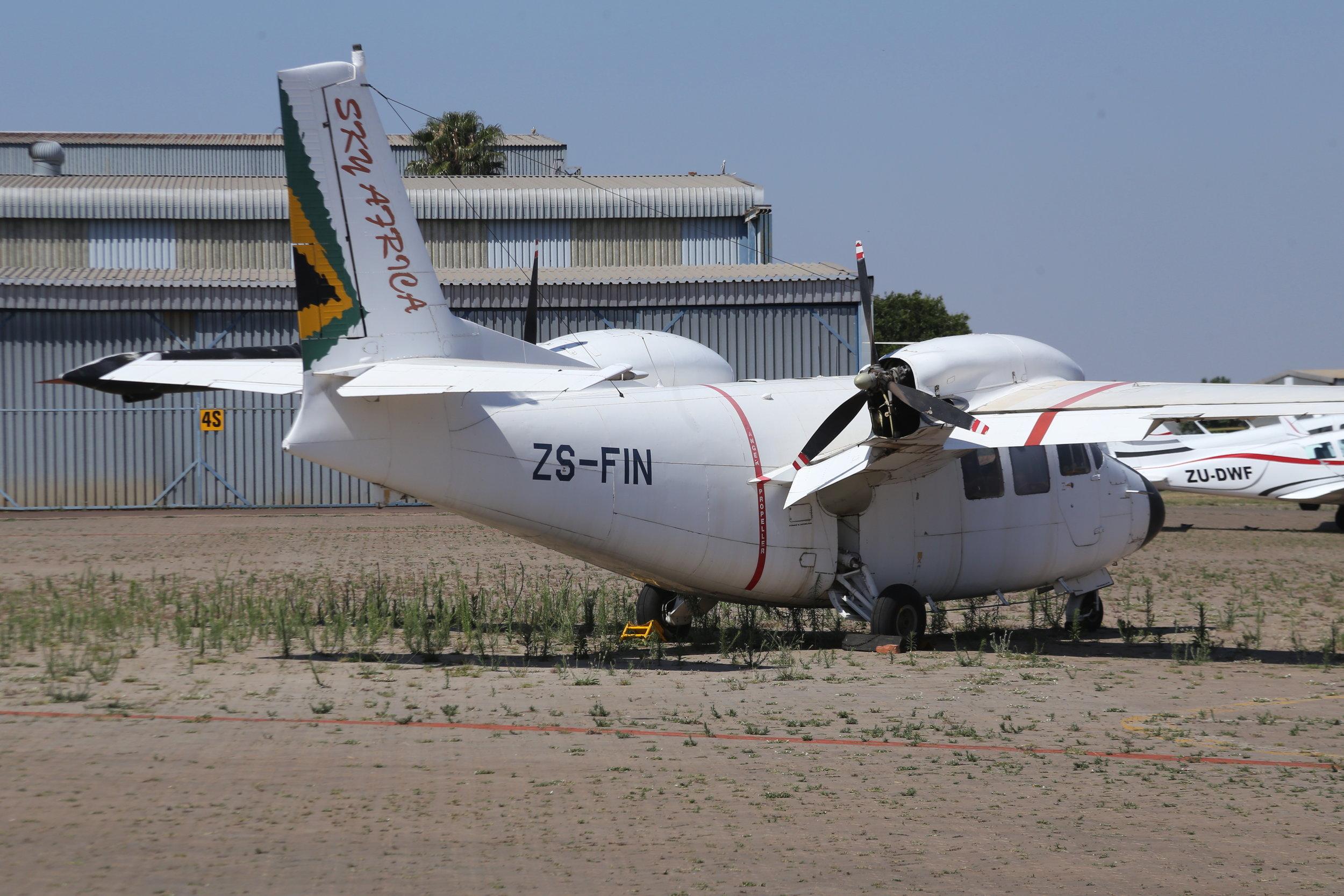 ZS-FIN Sky Africa Piaggio P166 Albatross taken at Wonderboom 12th Noevmebr 2018 by John Wood