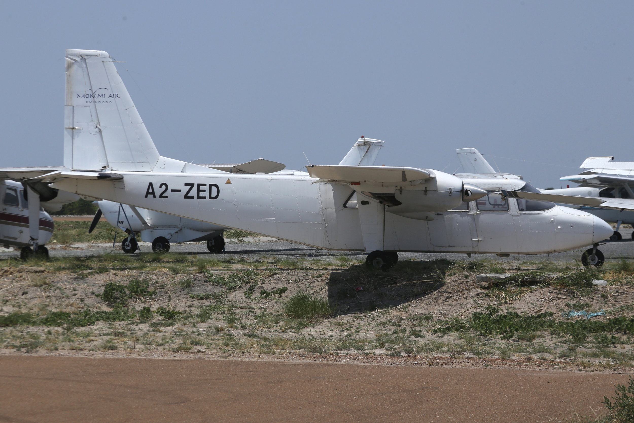 A2-ZED Moremi Air Britten Norman Islander taken at Maun, Botswan 15th November 2018 by John Wood