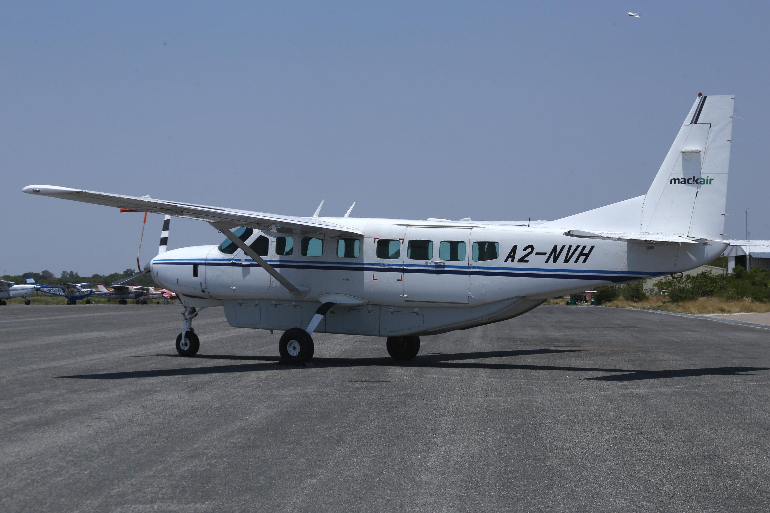 A2-NVH Mackair C208 taken at Maun, Botswana 15th November 2018 by John Wood
