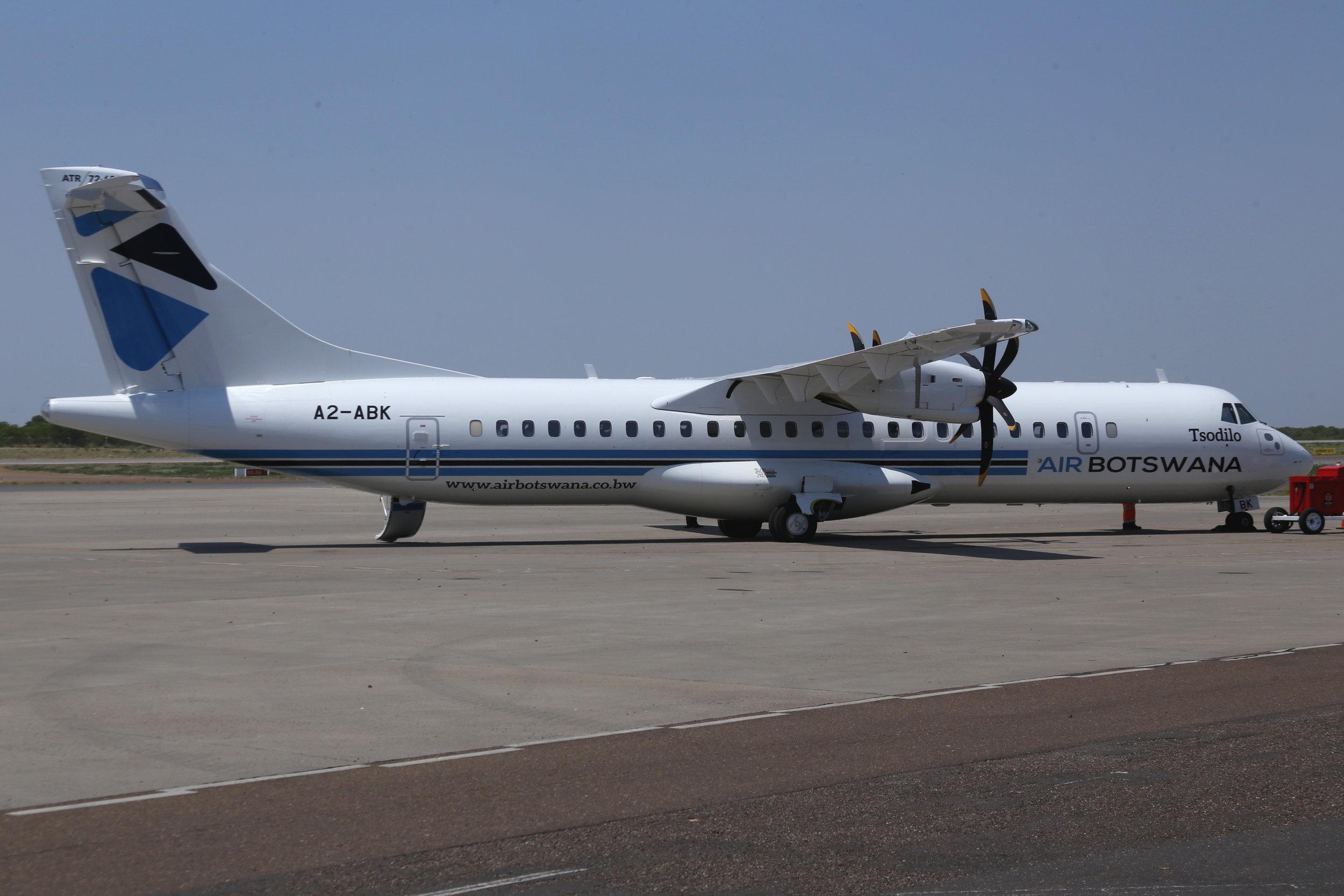 A2-ABK Air Botswana ATR-72-600 taken at Maun, Botswana 15th November by John Wood