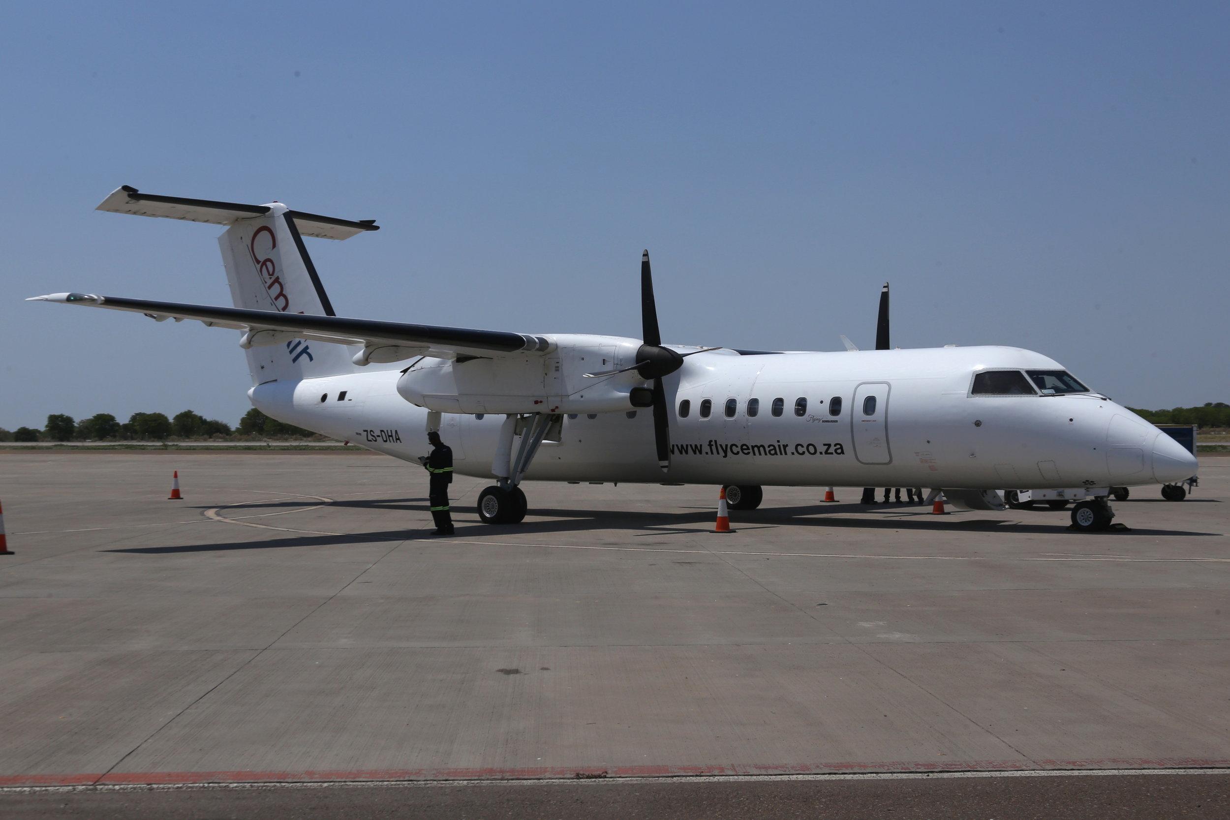 ZS-DHA Cem Air DHC8-3 taken at Maun, Botswana 15th November 2018 by John Wood