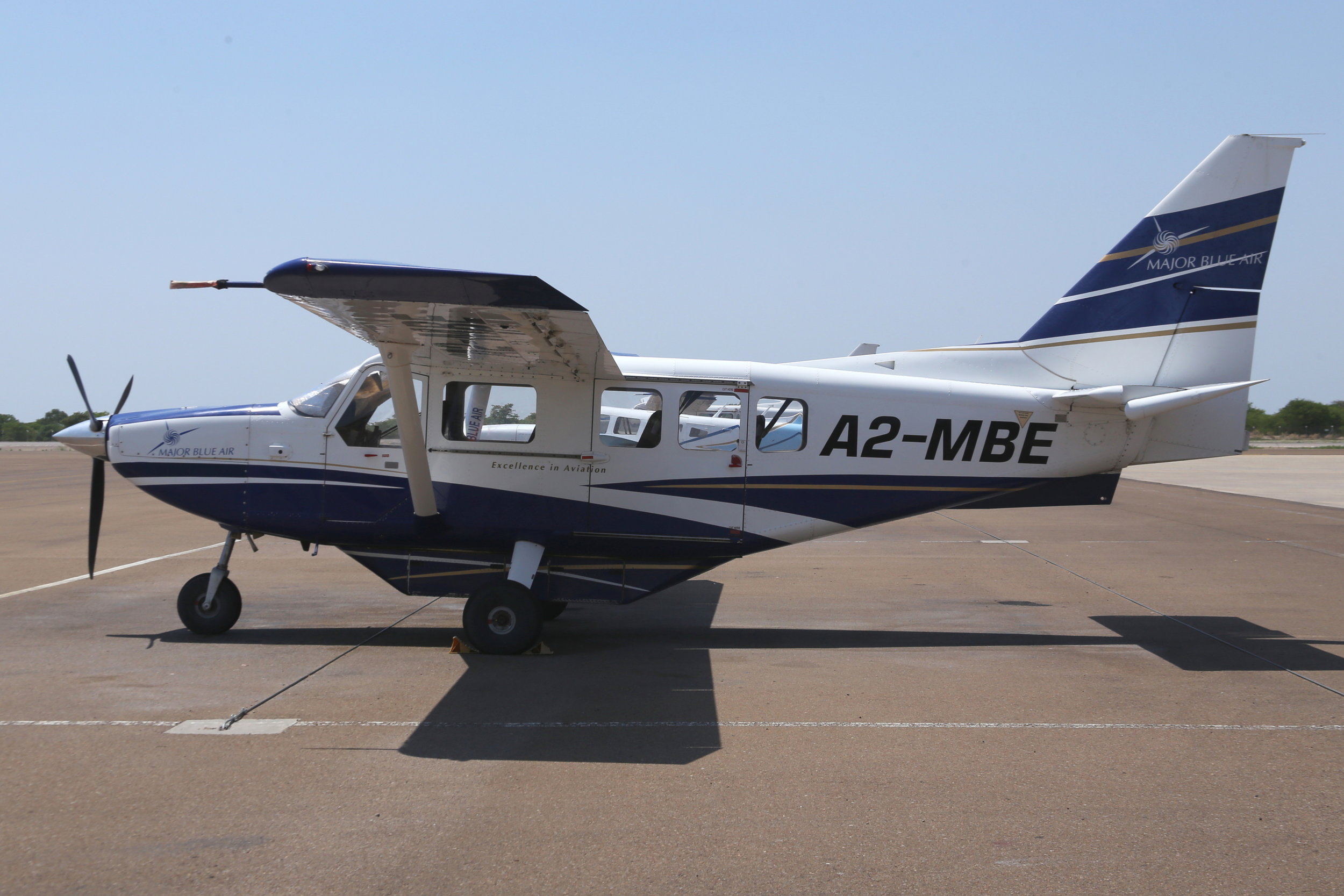 A2-MBE Major Blue Air Gippsland Airvan taken at Muan, Botswana 15th November 2018 by John Wood