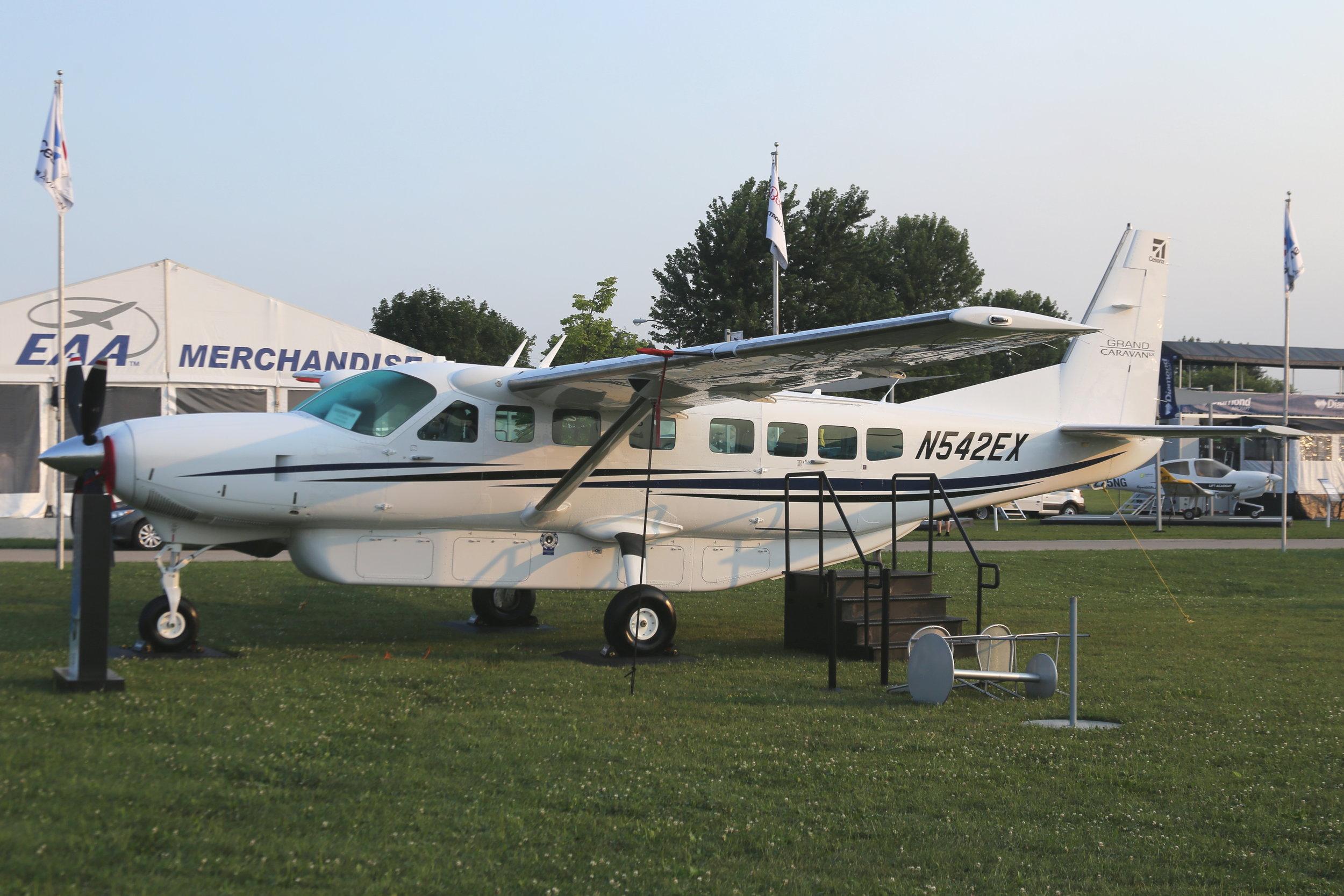 N542EX Textron Aviation C208 taken at Oshkosh 23rd July 2018 by John Wood